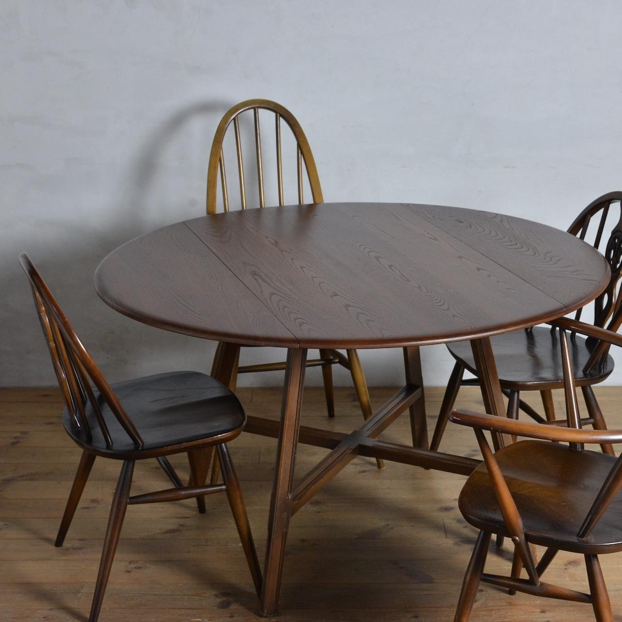 Ercol Oval Drop Leaf Table / アーコール ドロップ リーフ テーブル〈オールドコロニアル・ダイニングテーブル・エクステンションテーブル伸張式・円卓・北欧〉 112169
