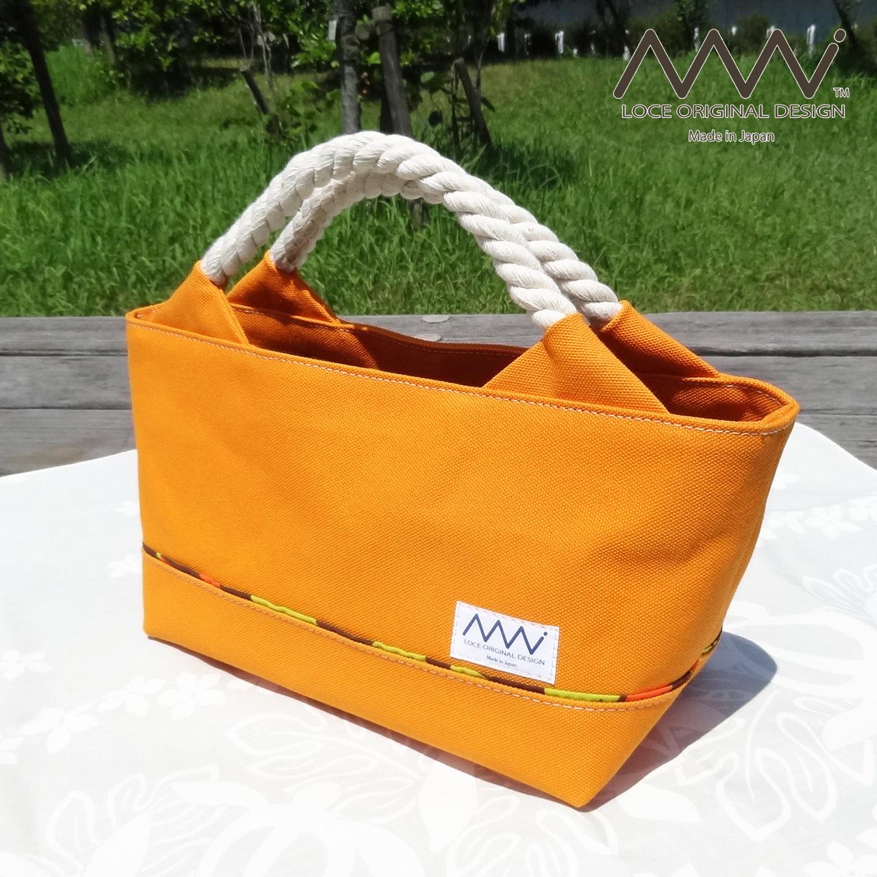 ハワイアンテイストなロープ紐ハンドルのミニトートバッグ