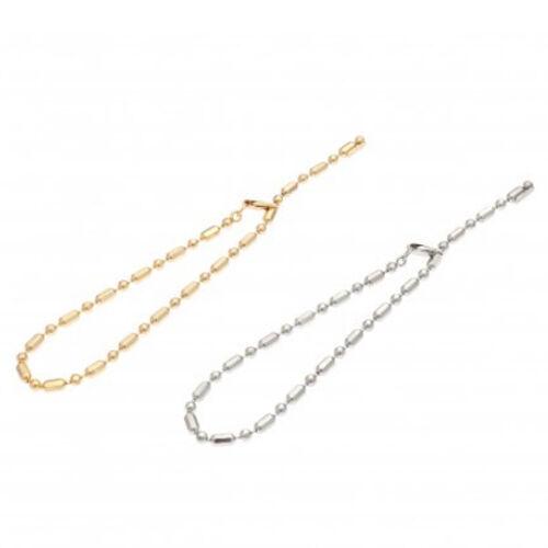 Sea'ds mara/シーズマーラ Random cut ball chain bracelet 21A2-21