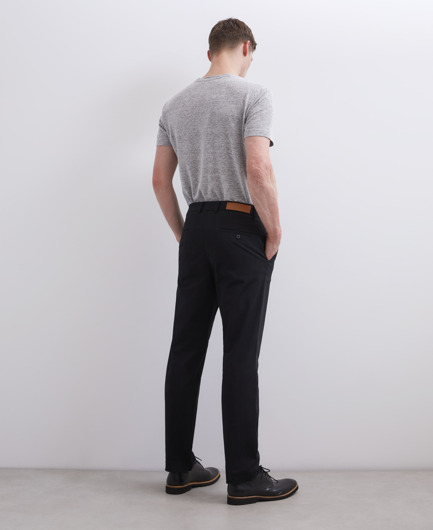 ELASTIC COTTON CHINO TROUSERS [168561259611]