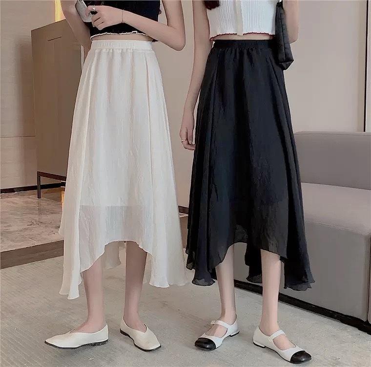 beauty cut skirt 2color