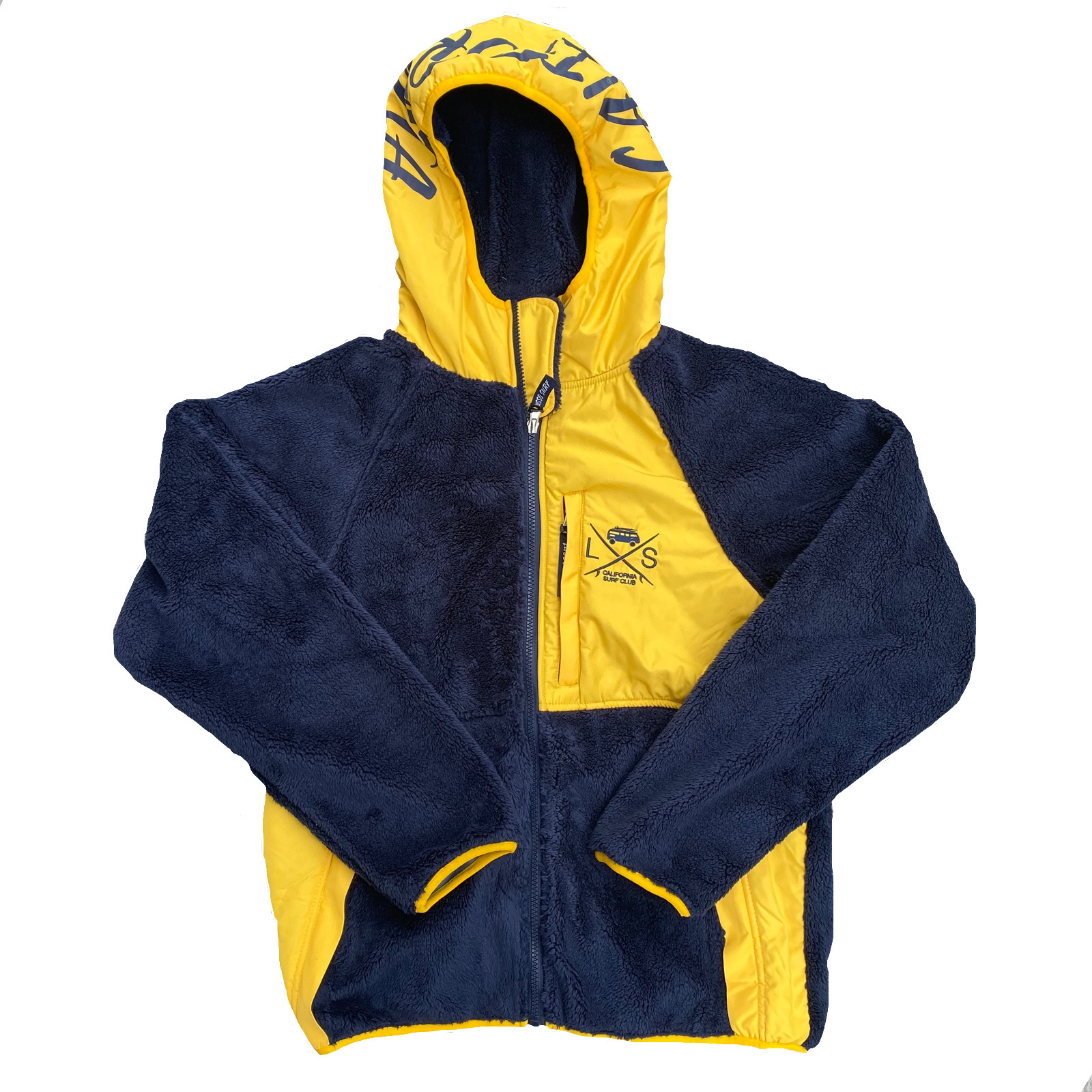 SURF BUS Fleece Jacket 【Navy × Yellow】