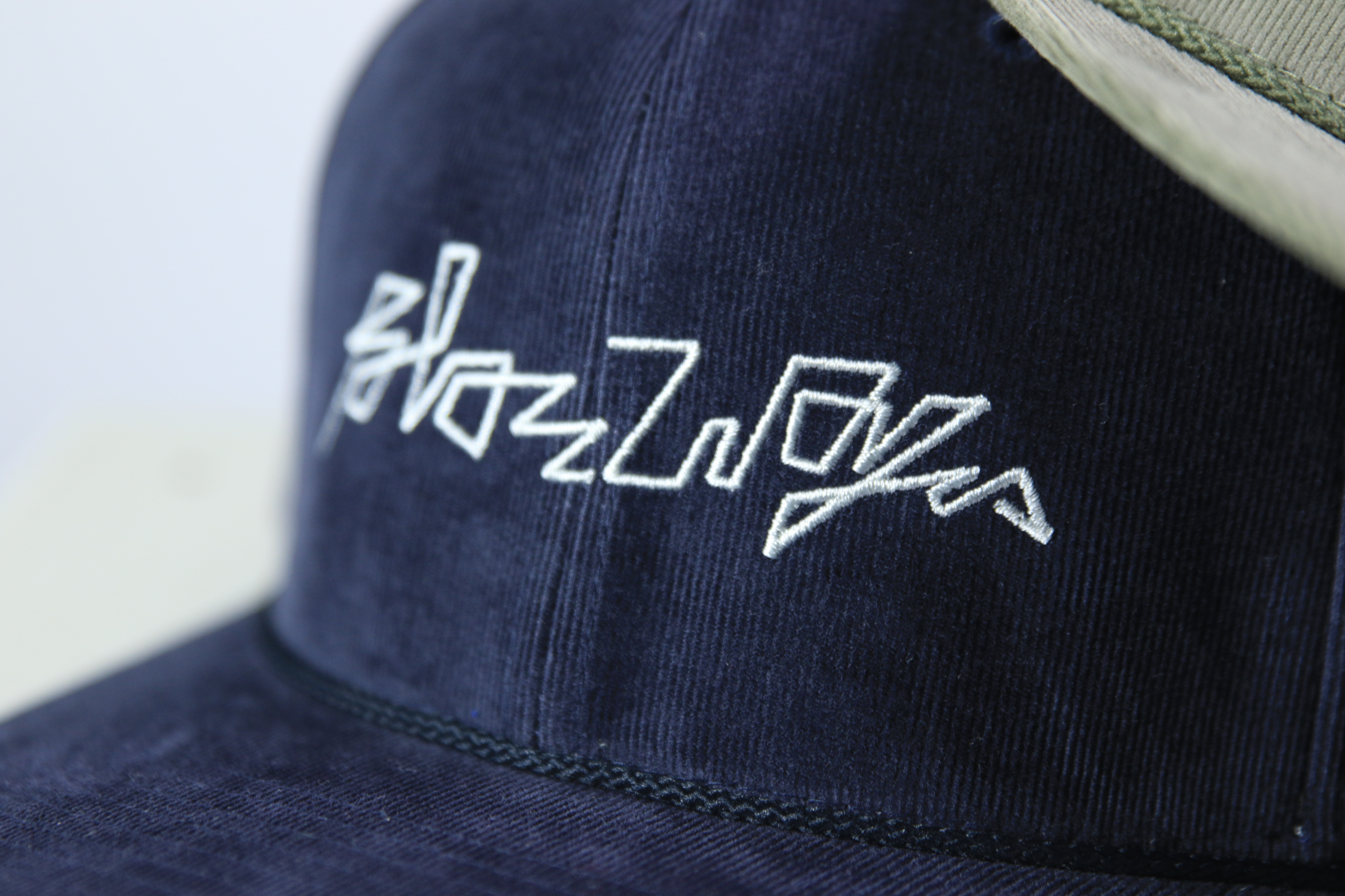 BLAZZ ELECTRONICS CORDUROY CAP [NAVY]