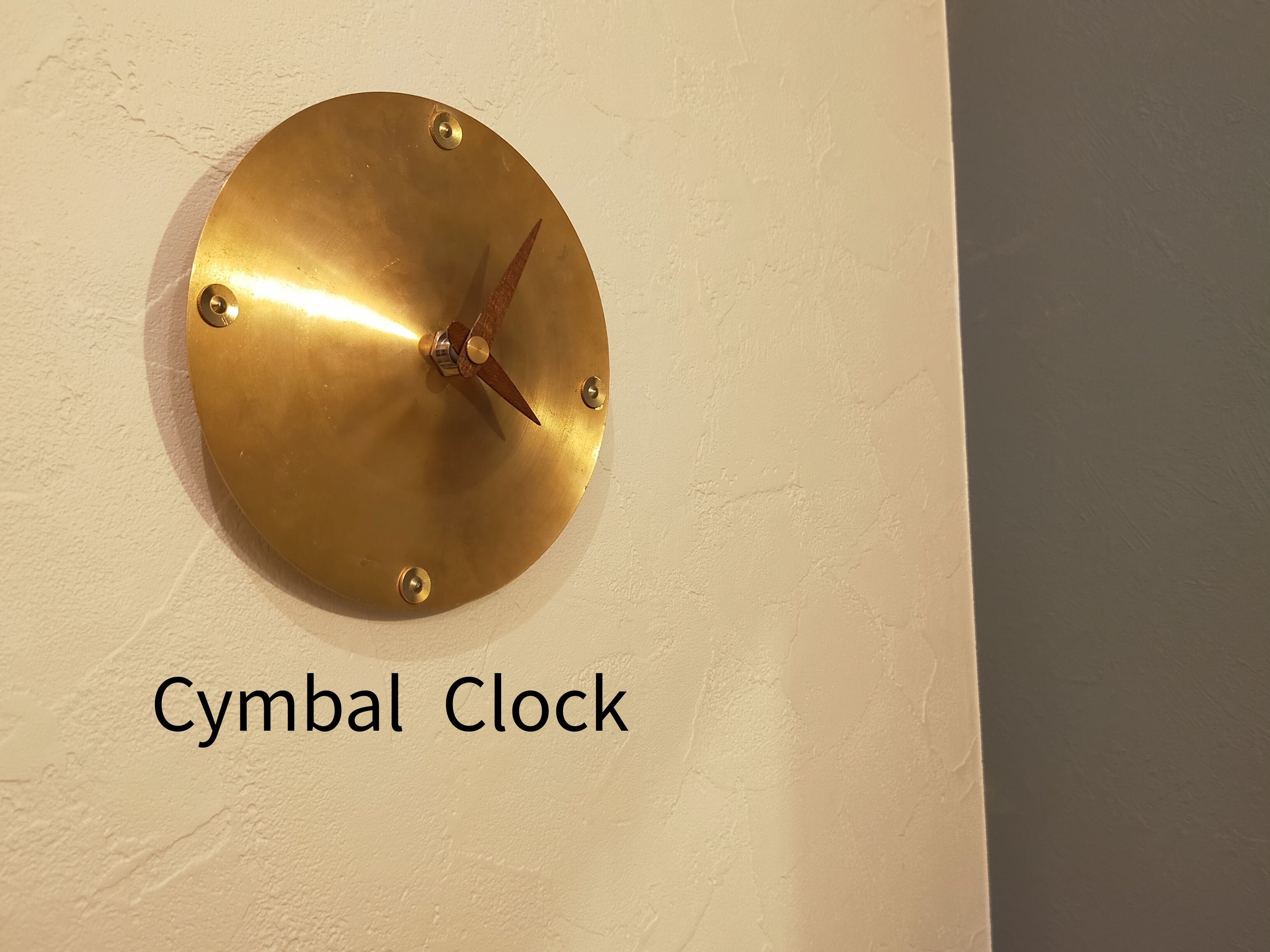 Cymbal Clock(シンバル×壁掛け時計)