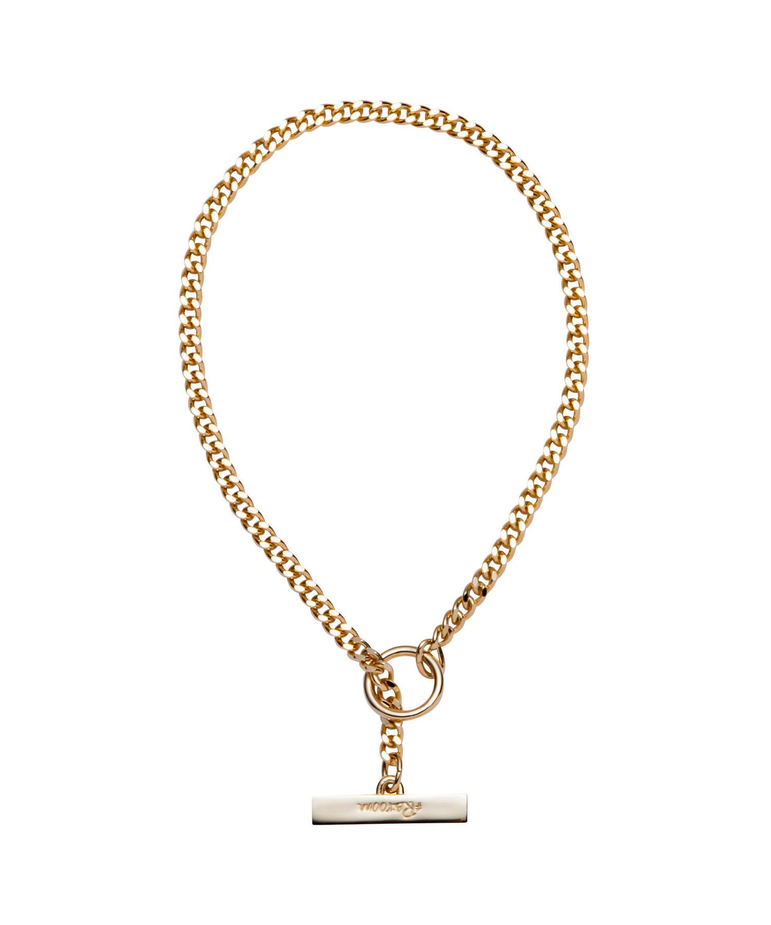 T BAR  FLAT LINK CHAIN BRACELET-GOLD[REA157]