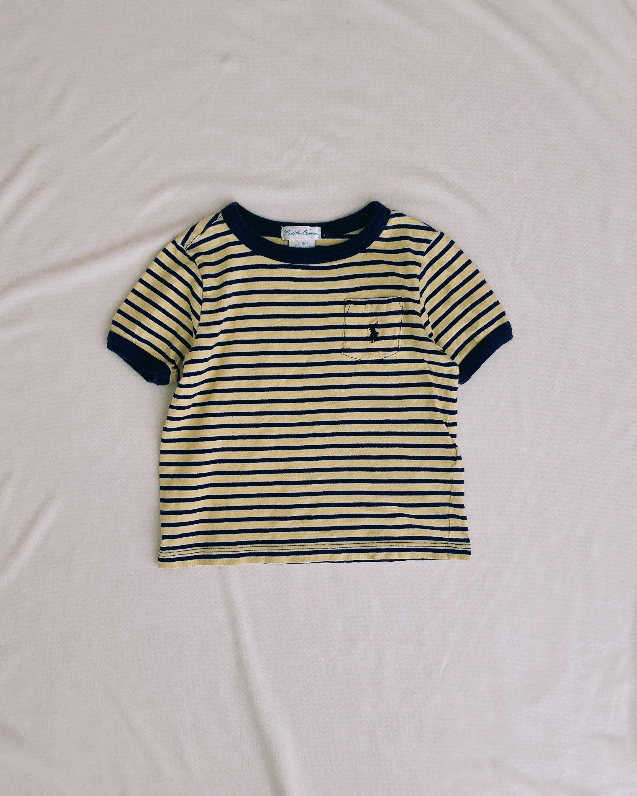 (KD145)85cm Ralph Lauren  boder T-shirts