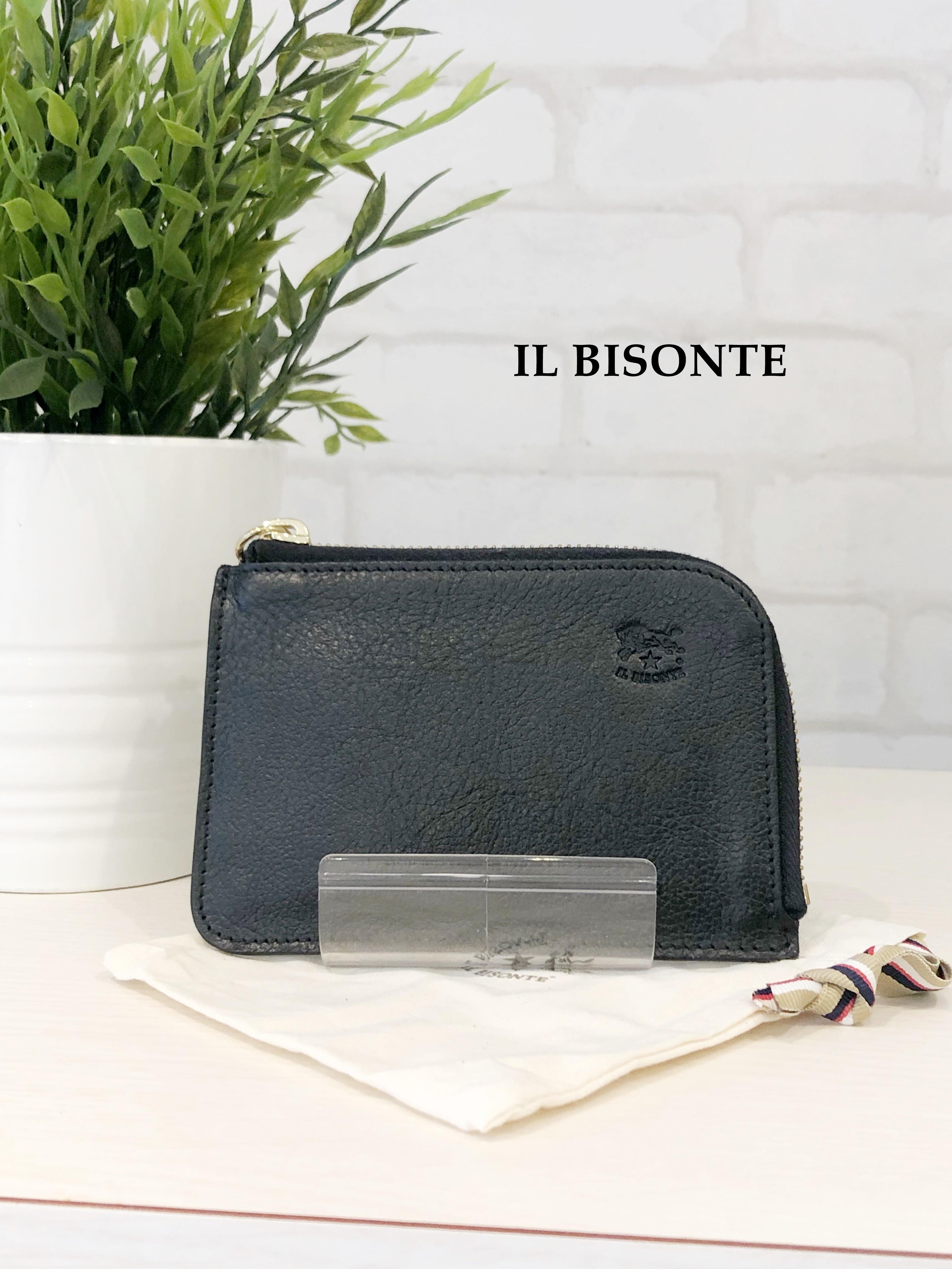IL BISONTE/ガマ口三つ折り財布/4540(ブラック)