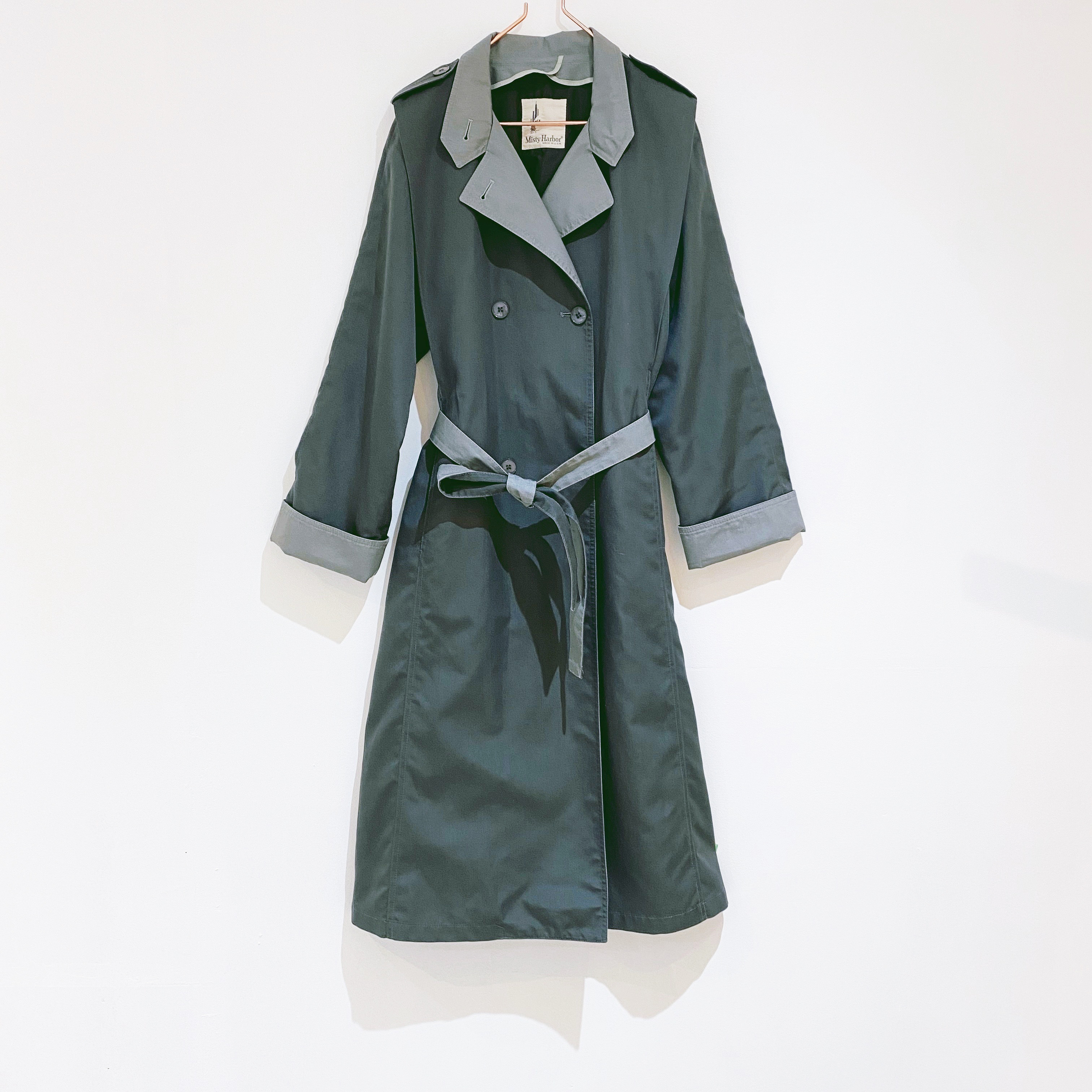 ◼︎90s bi-color trench coat from U.S.A.◼︎