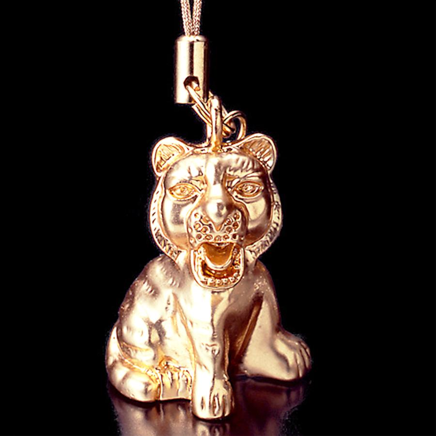 【強運・財運】天然石 大粒三色タイガーアイ「丸珠」ブレスレット for men<虎の子ストラップ付き>(14mm)