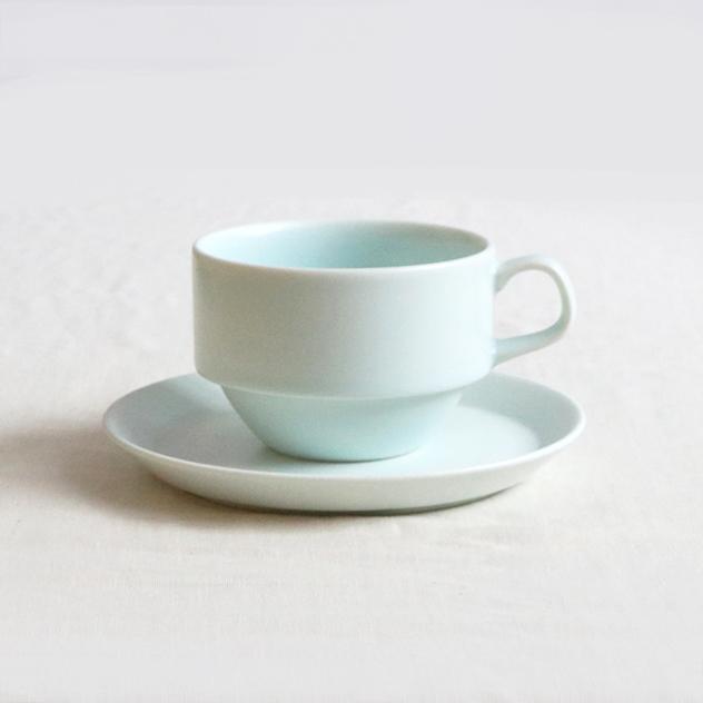 ブルー・ホワイトのカップ&ソーサーセット【SLSET-0054_MP】