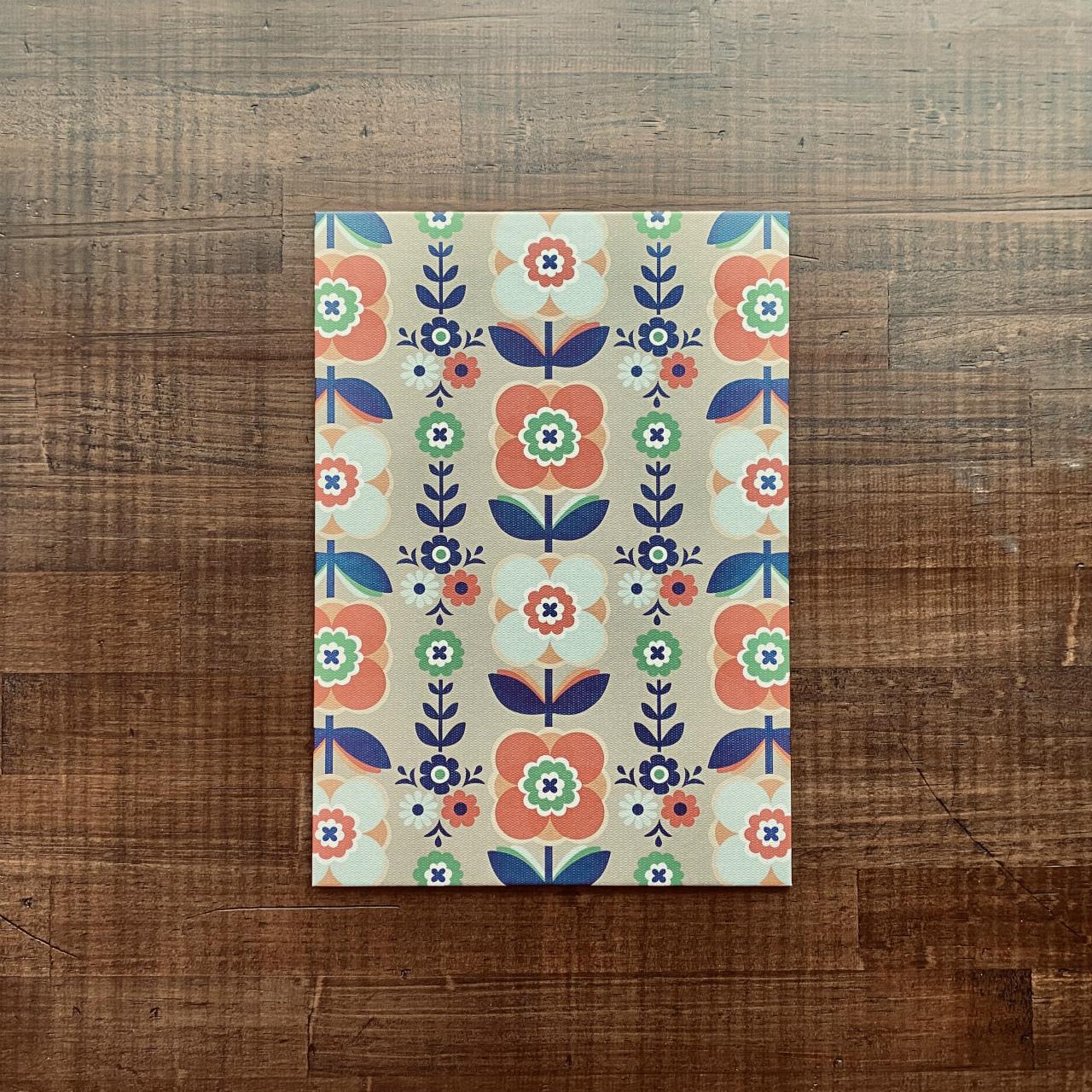 着せ替え表紙「HAOLi-羽織-」(A5ノート用1枚)チロルフラワー(ベージュ系)