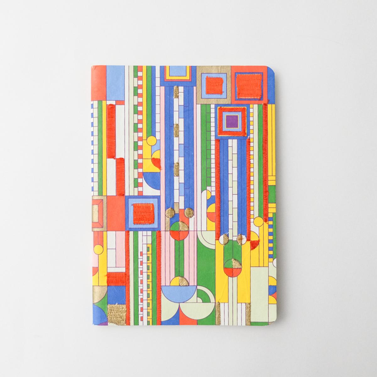 フランクロイドライト 刺繍ノート サボテンの花