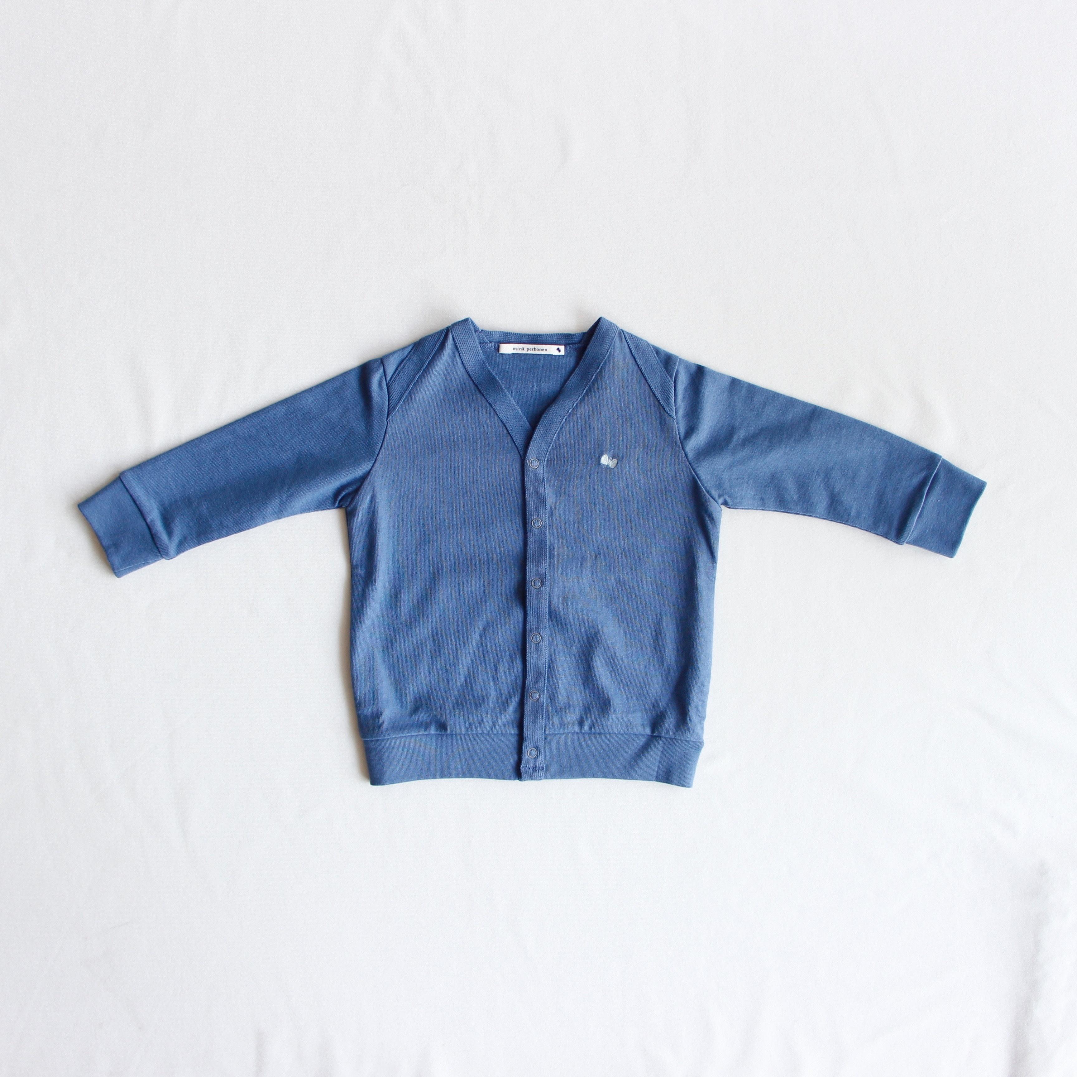 《mina perhonen 2018AW》zutto カーディガン / blue / 110-130cm