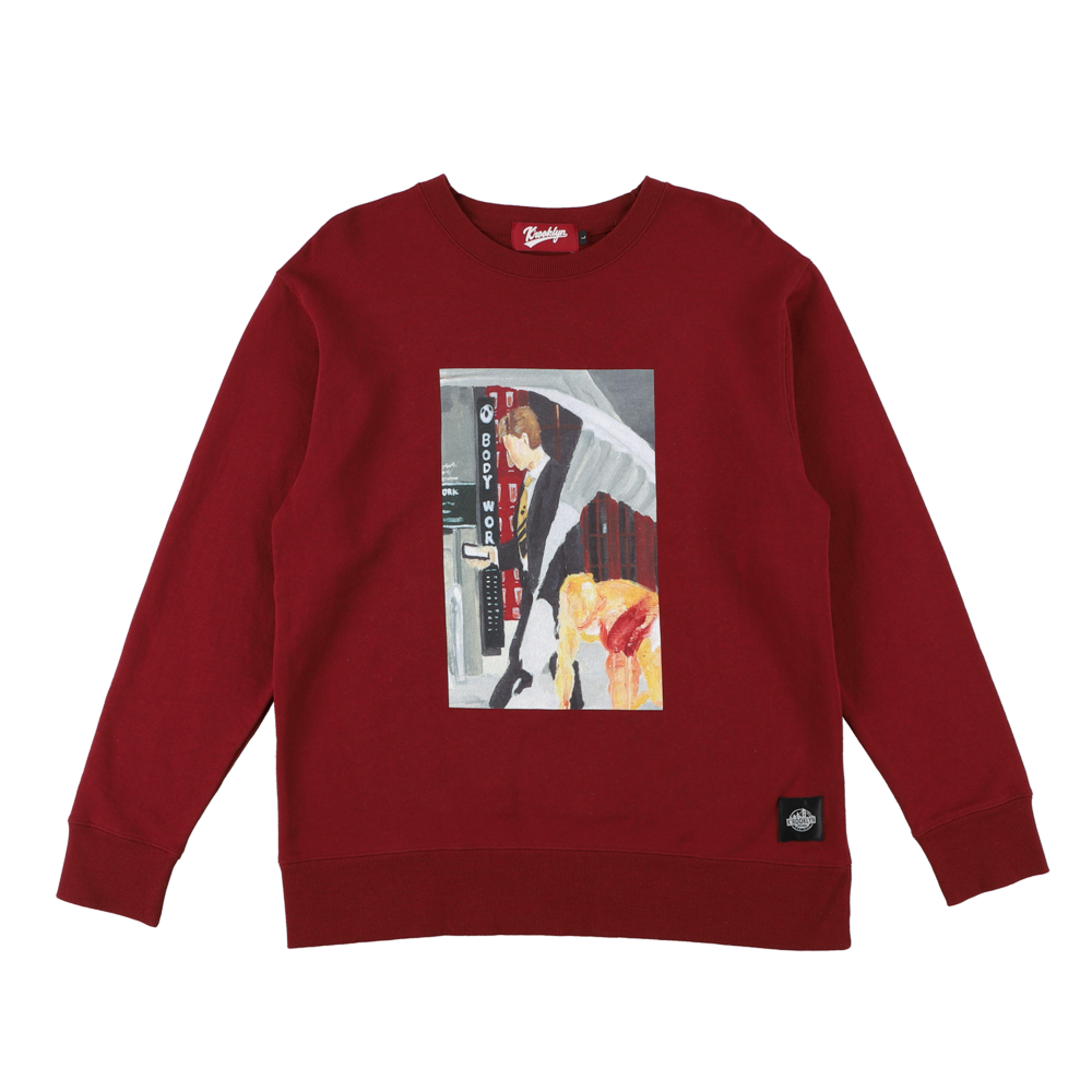 K'rooklyn × SUGI Collaboration Sweat -Wine Red-