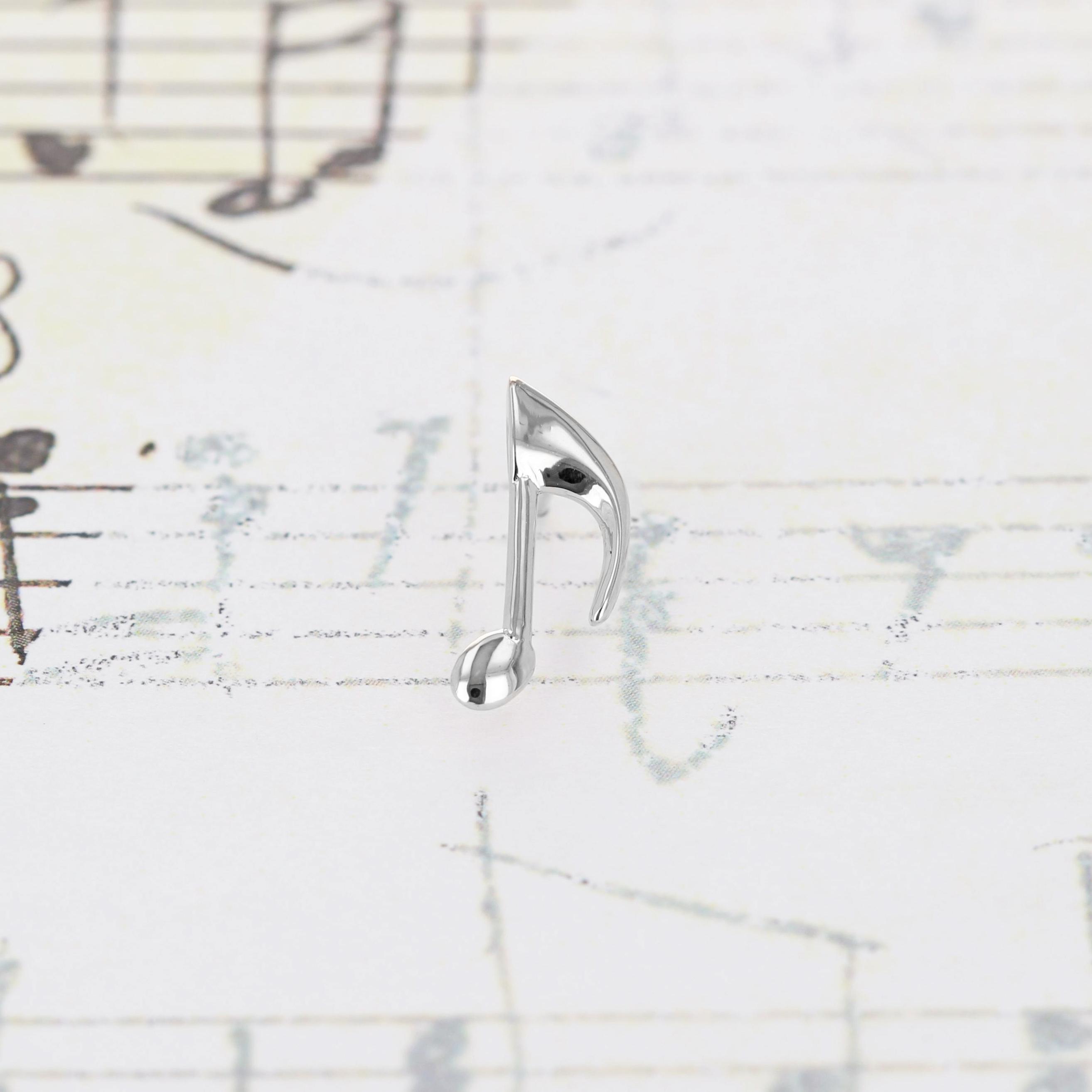 Silver / ピアス (片耳) / 8分音符スタッドピアス