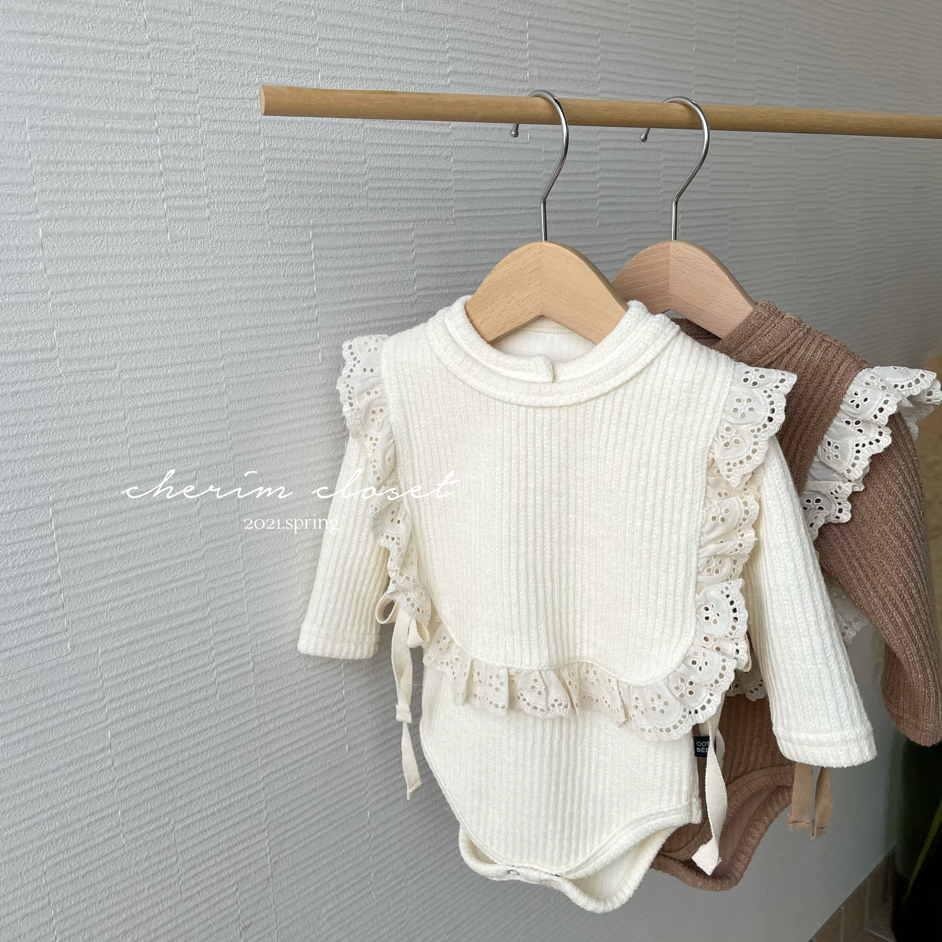 NO. 1148 frill vest + rompers