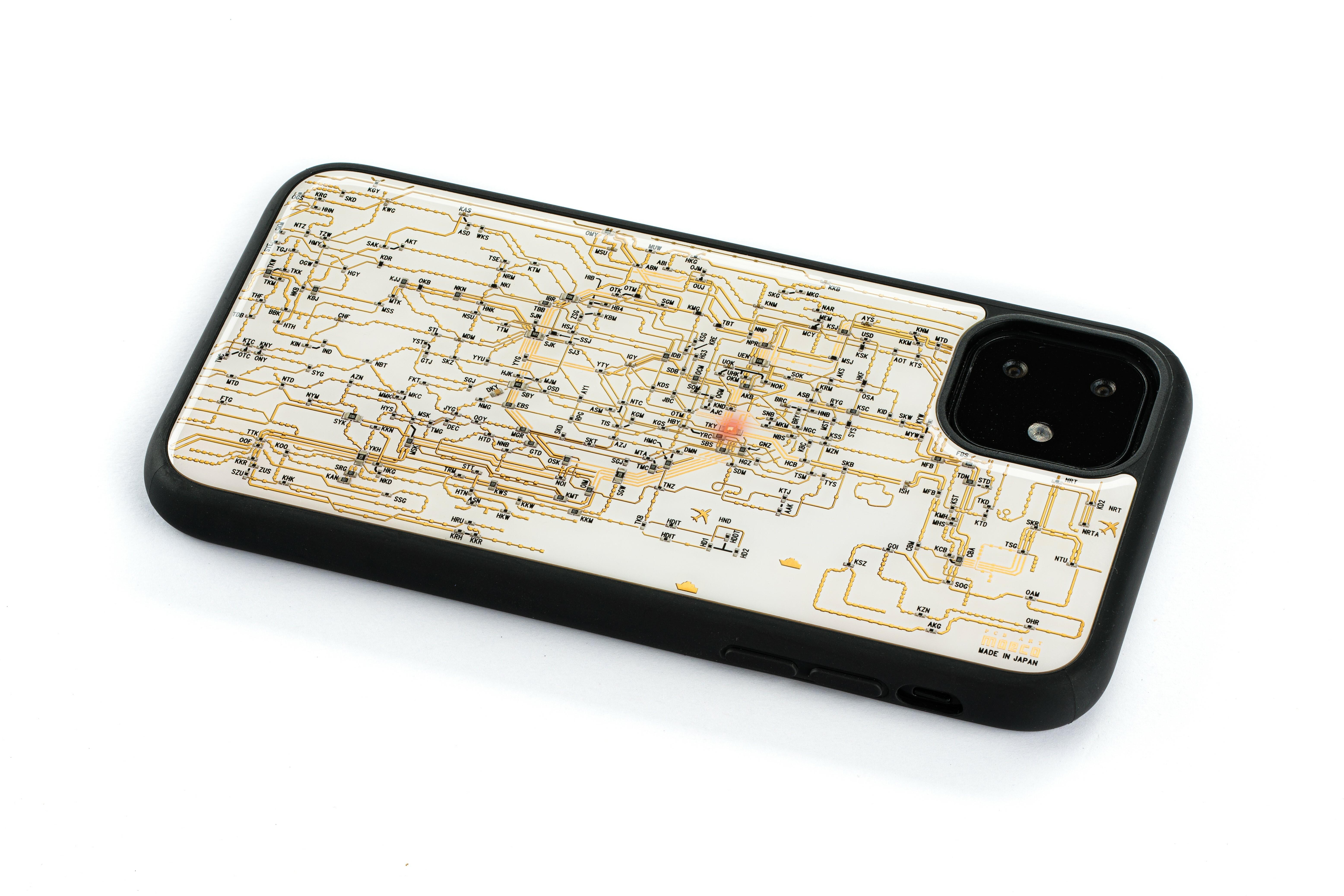 FLASH 東京回路線図 iPhone 11 ケース 白【東京回路線図A5クリアファイルをプレゼント】