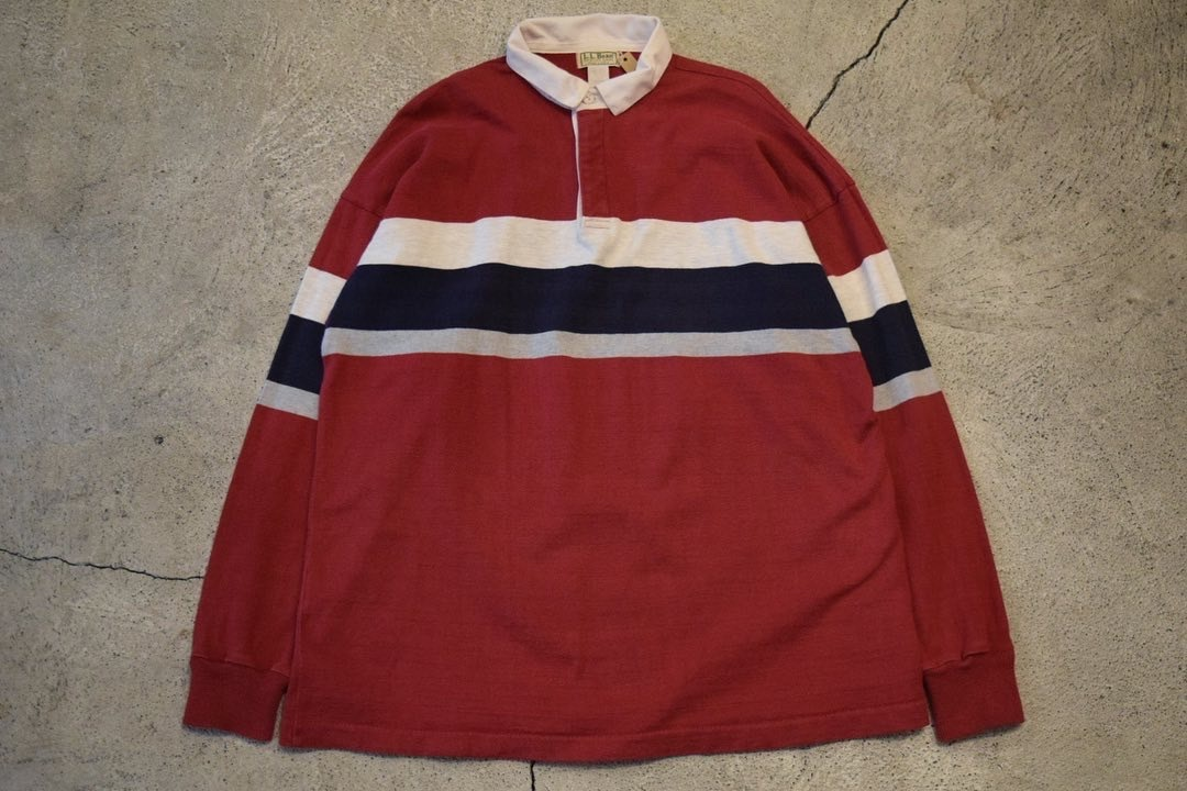 USED 80s L.L.Bean Rugby Shirt -X-Large 0899