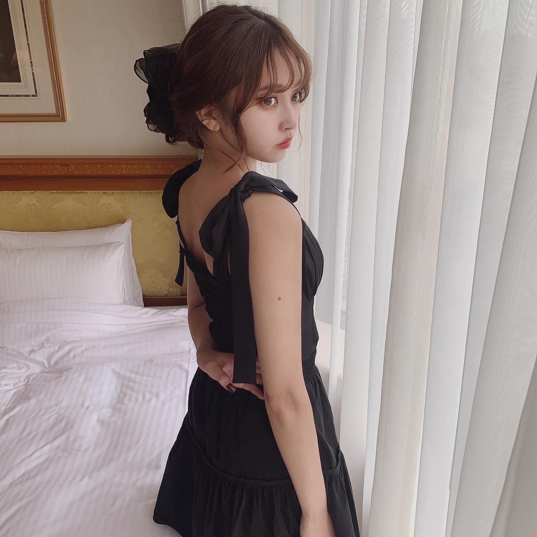 Désir original   lady ribbon black bustier