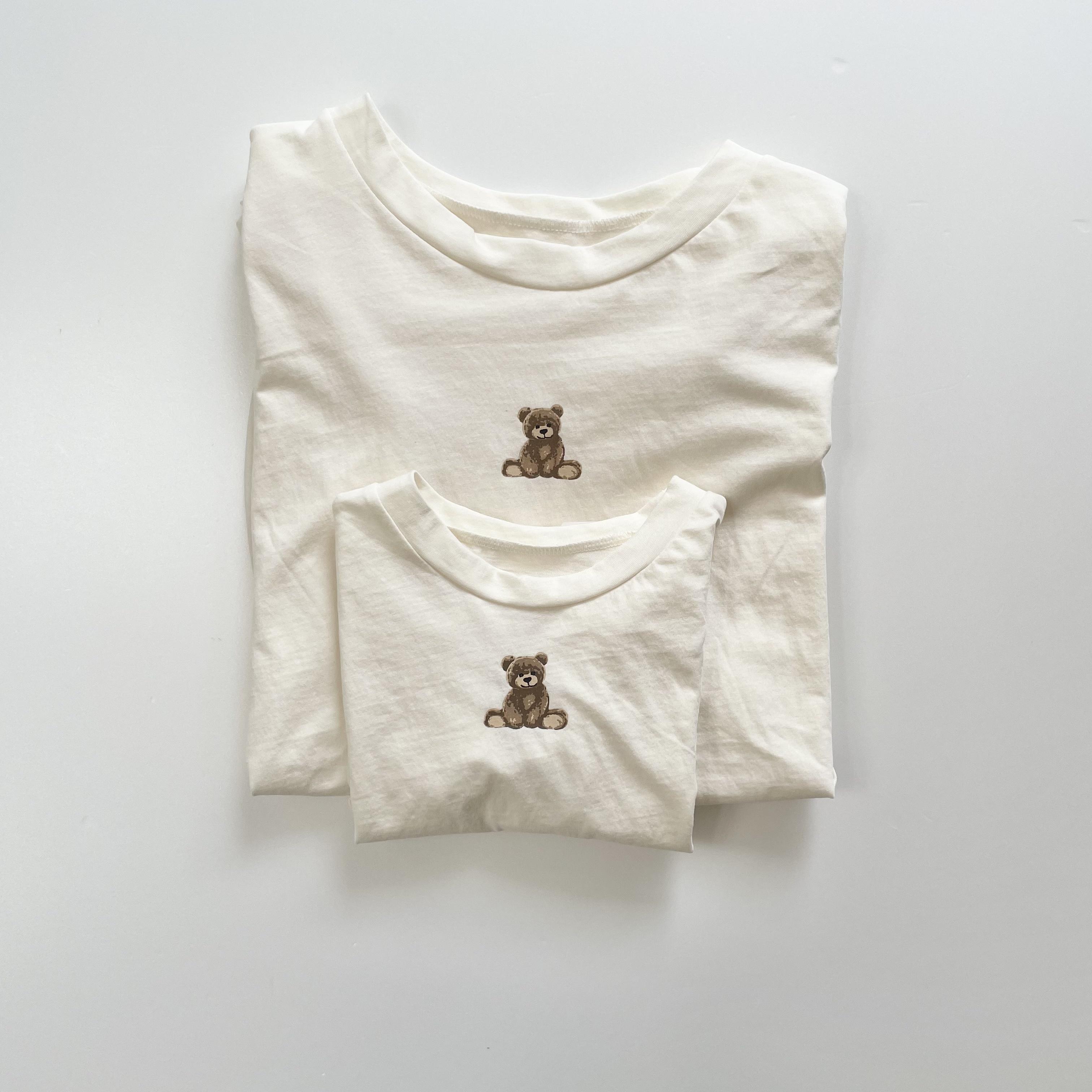 NO.1400   Bear tee ( mom size ) / Aosta
