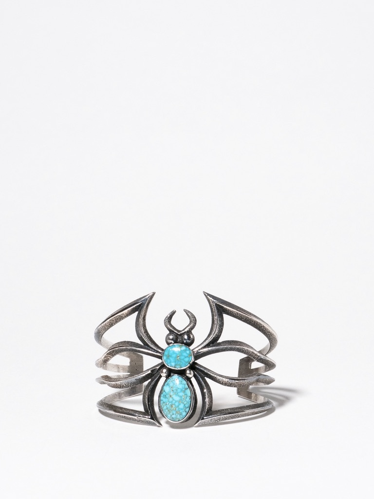 Navajo Turquoise Spider Bangle / Aaron Anderson