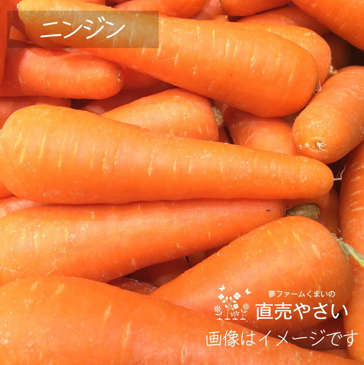 新鮮な秋野菜 : ニンジン 約400g 10月の朝採り直売野菜 10月24日発送予定