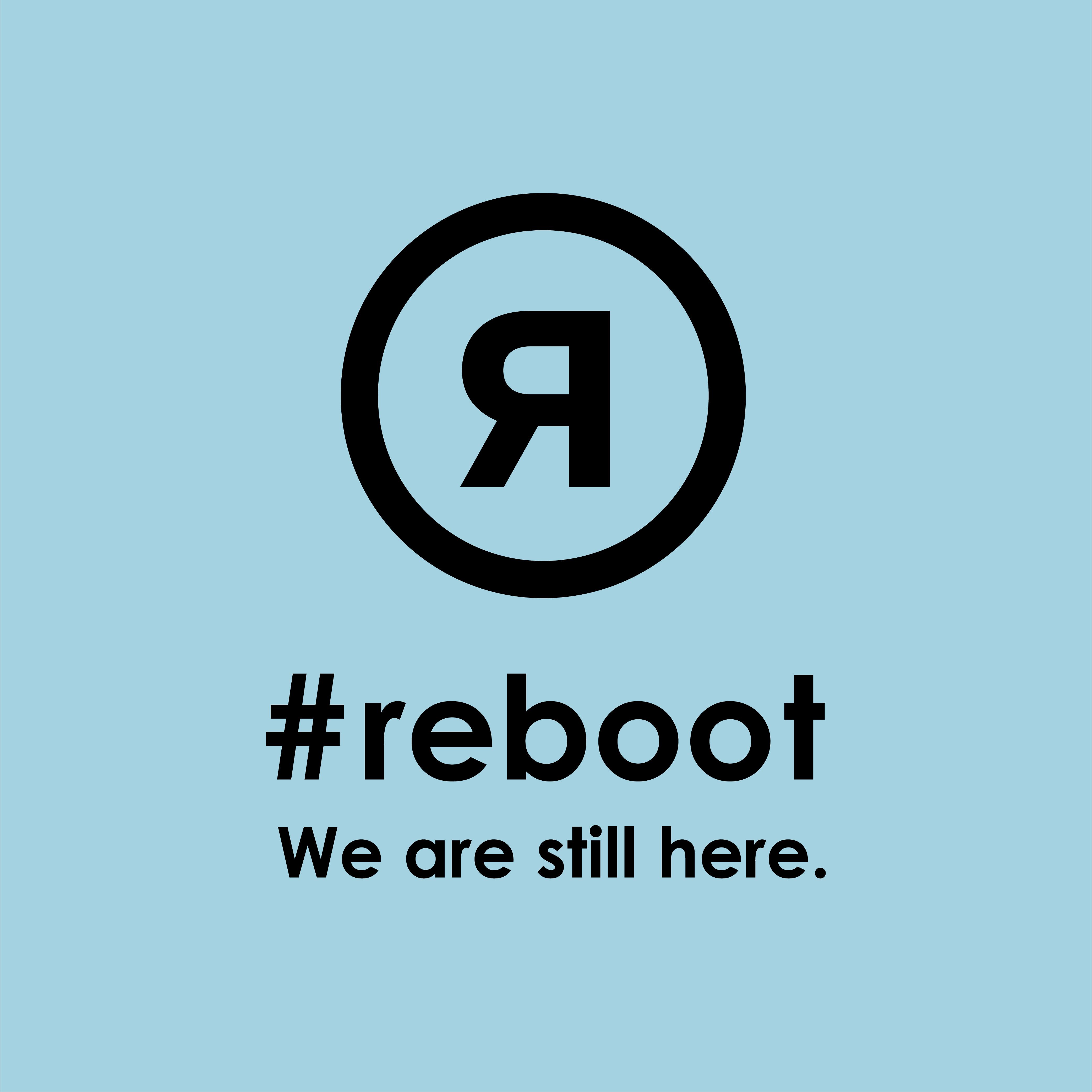 #rebootステッカー ブルー