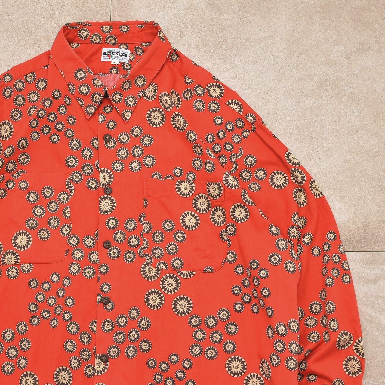 Geometric dot full pattern cotton shirt