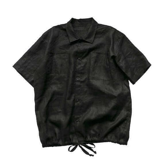 VOIRY D.S CORD-SS_LINEN BLACK