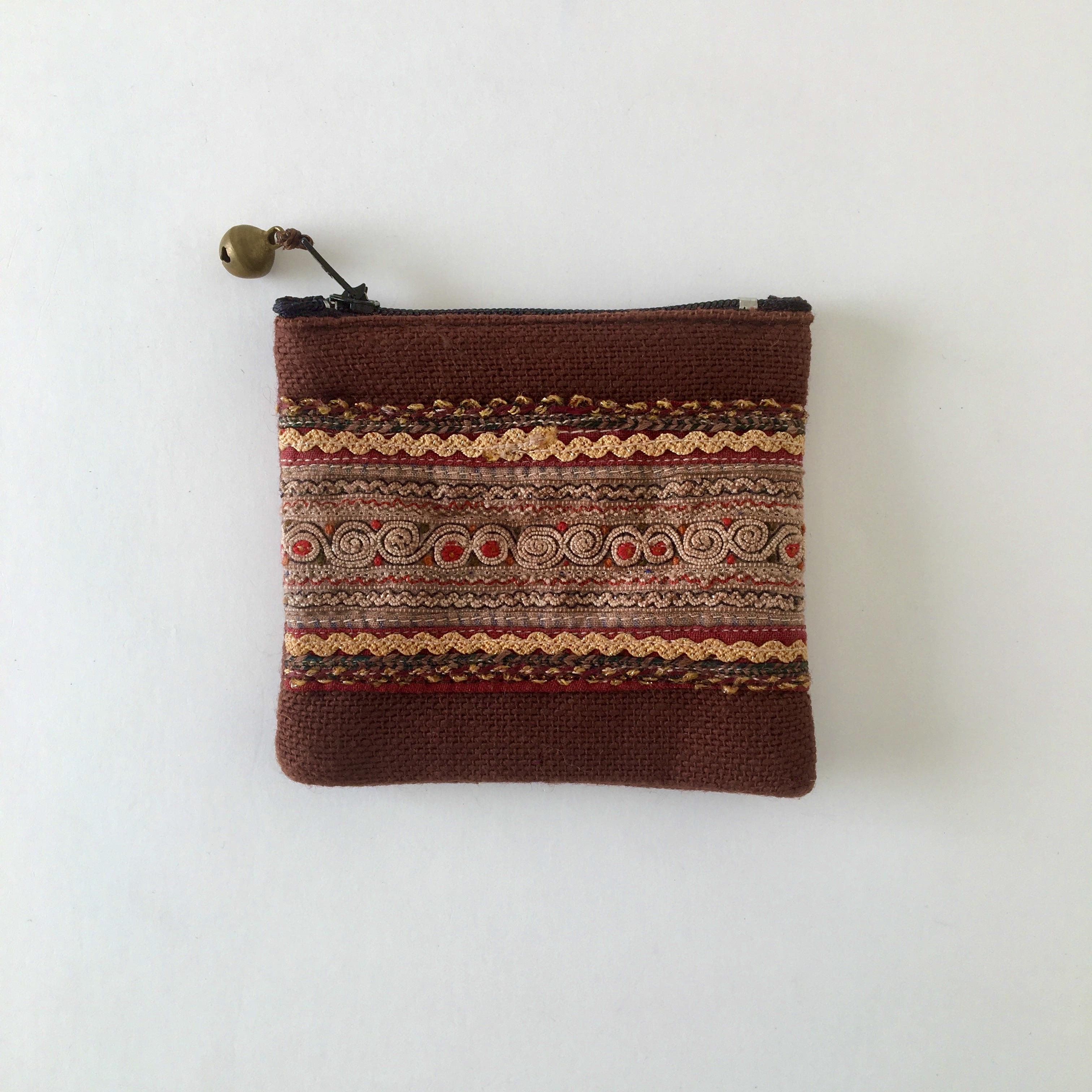 モン族の刺繍のコインケース③|Hmong Embroidery Coin Purse