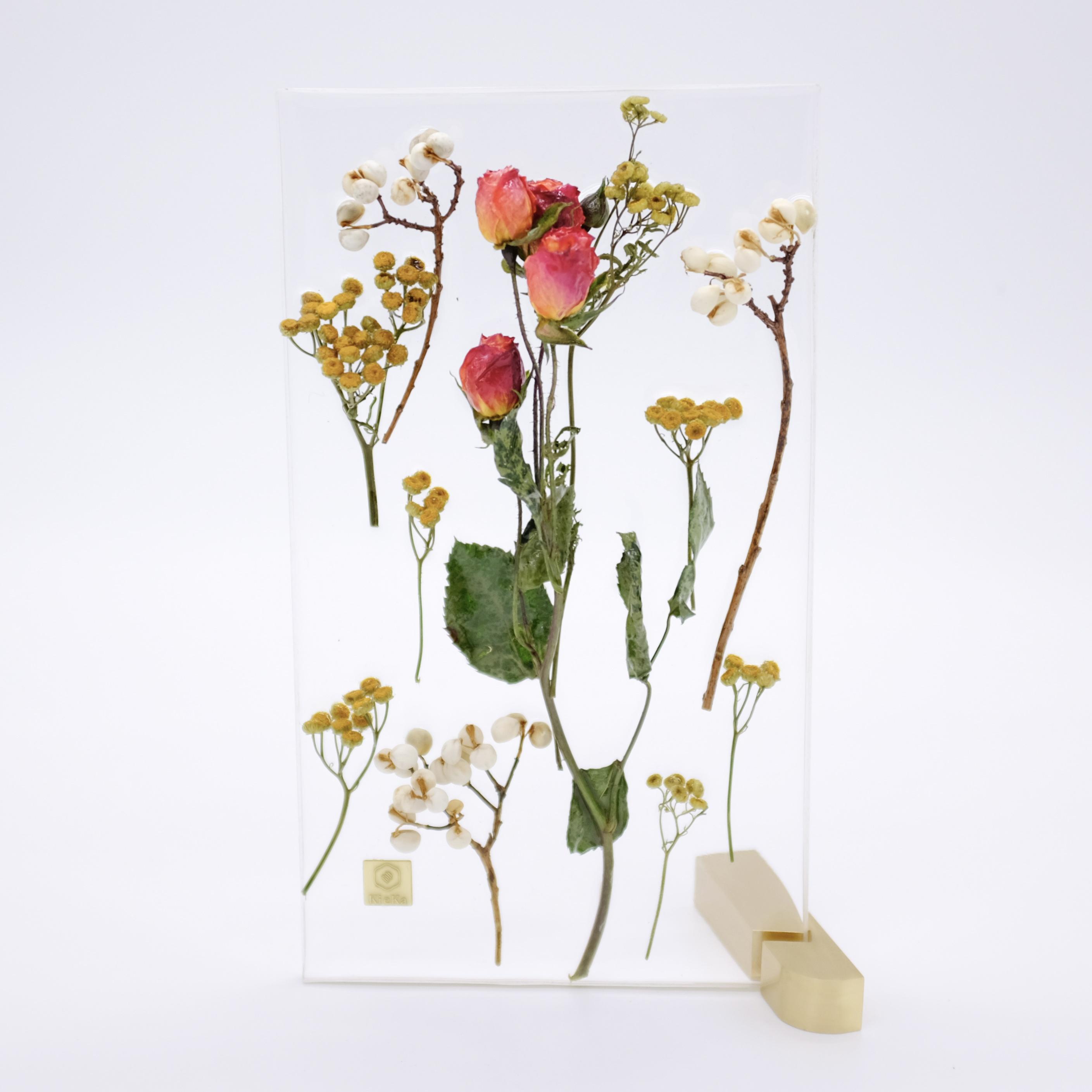dried flower M ローズ オレンジ