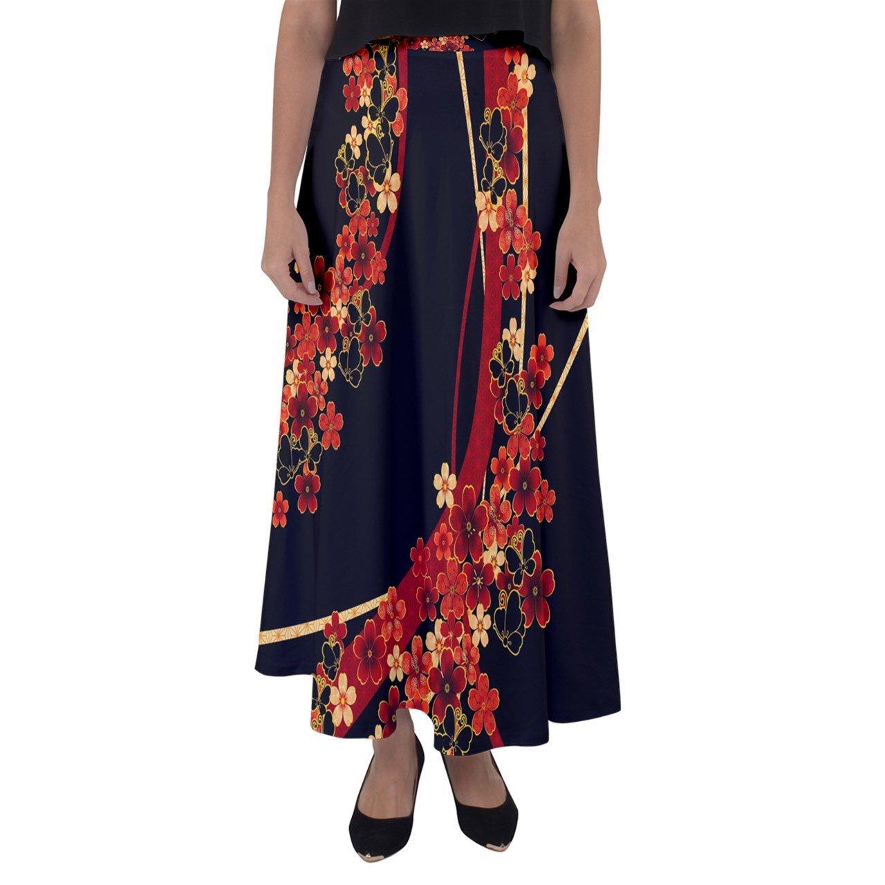 華と蝶 マキシフレアスカート