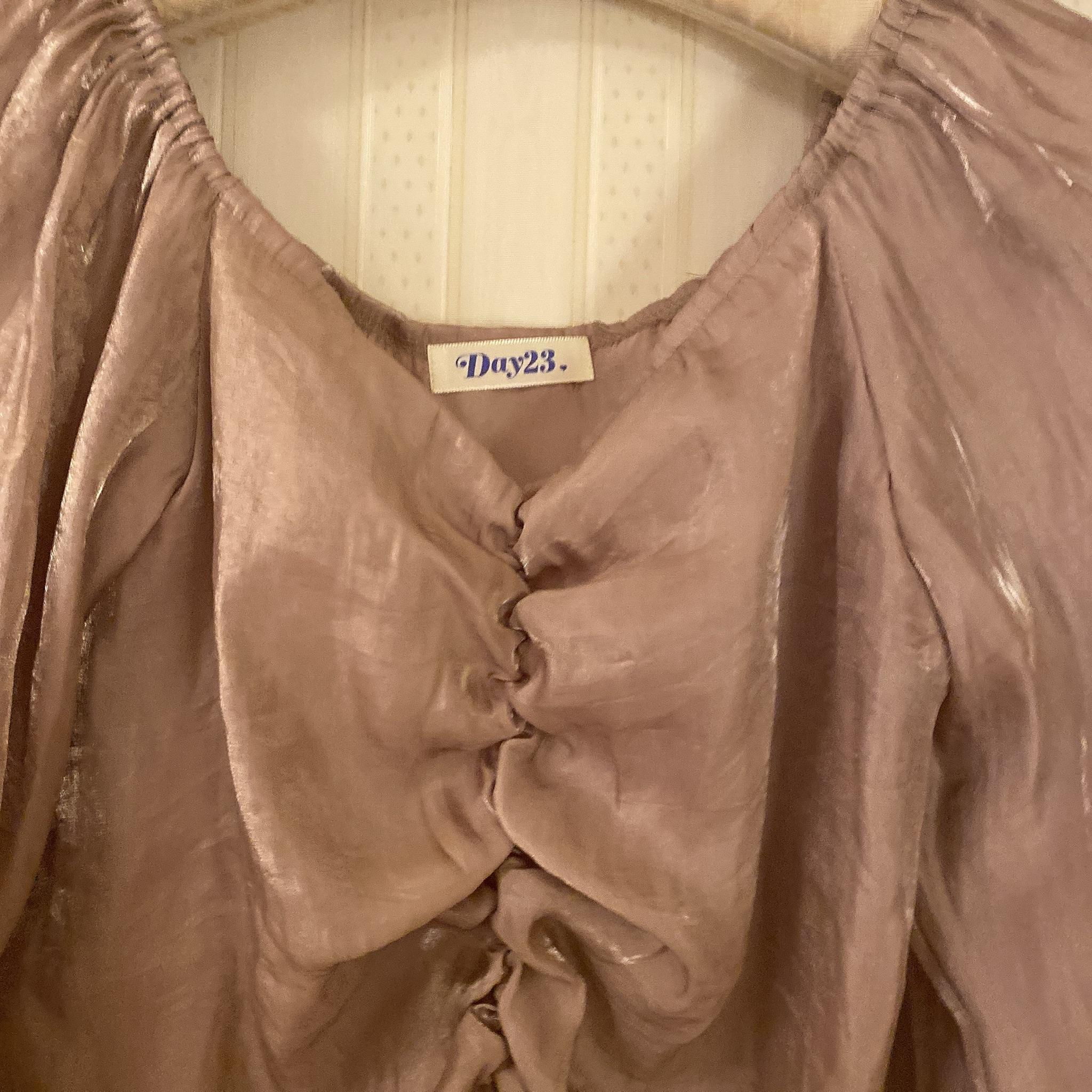 glossy design blouse