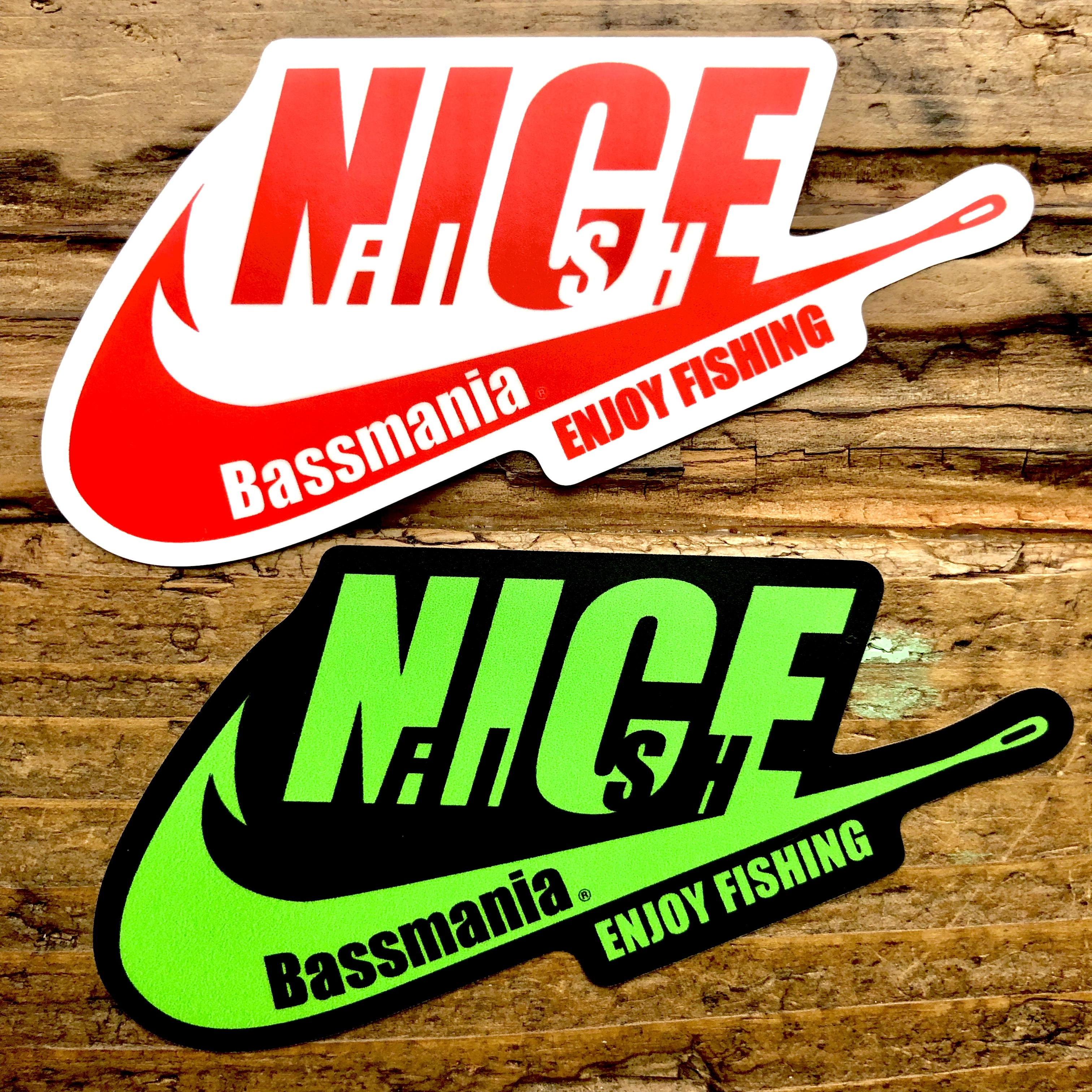 NICE FISH logo sticker