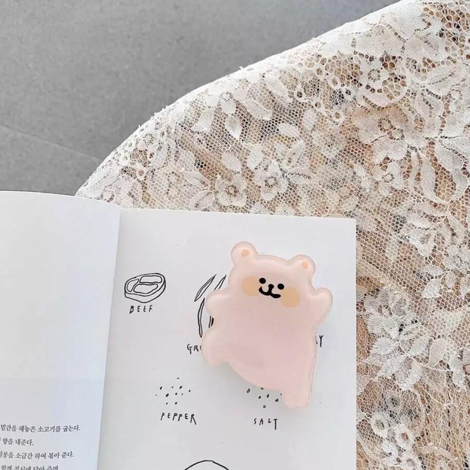 【送料無料】即納 韓国スマホリング Happy ベア グリップトック スマホアクセサリー 韓国 雑貨