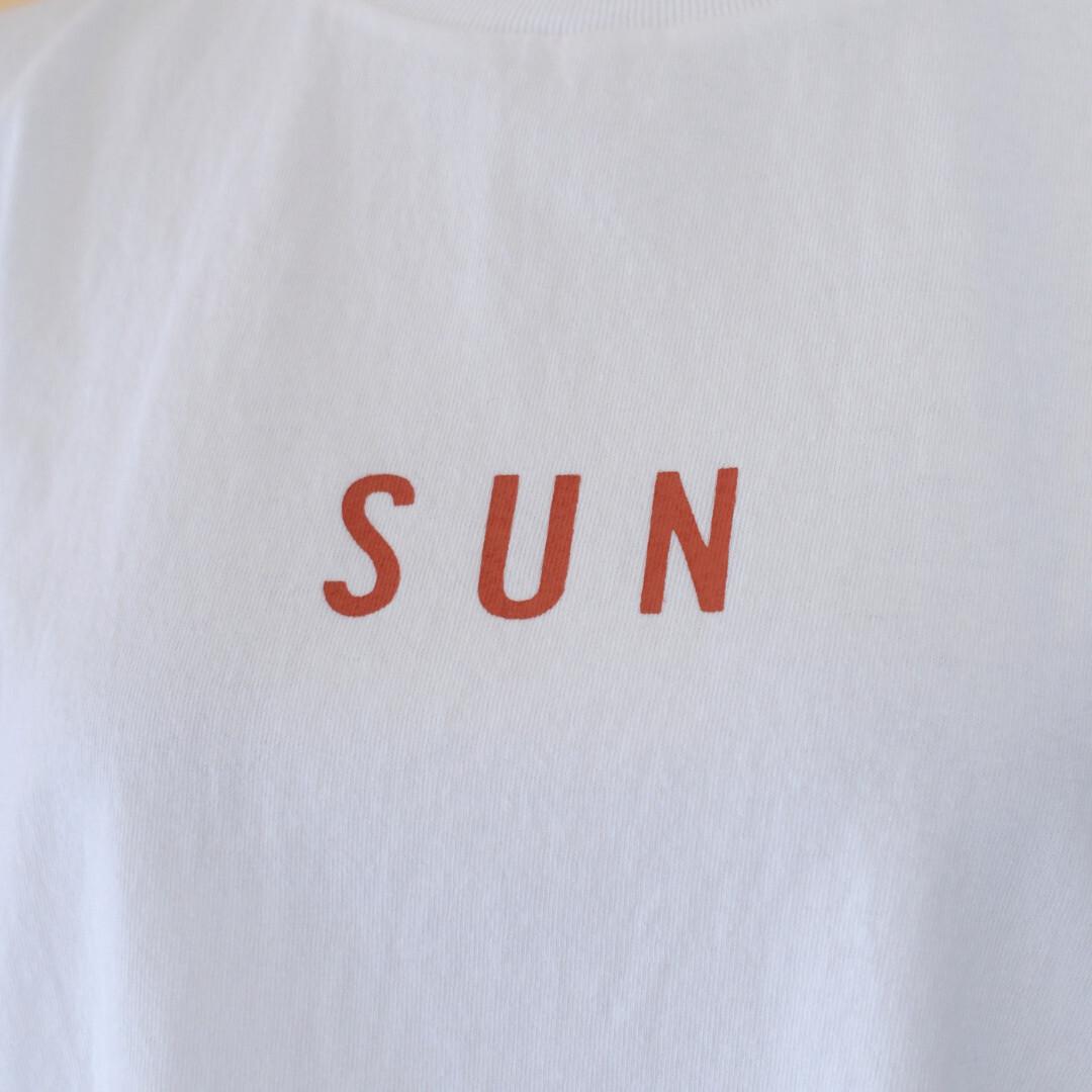 快晴堂 カイセイドウ 海上がりUNI Tシャツ SUN・ホワイト