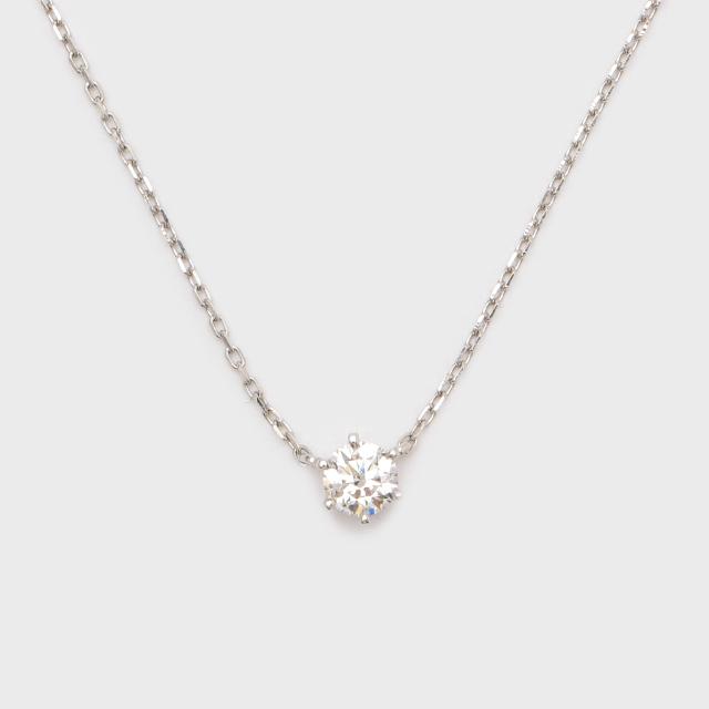 ENUOVE frutta Diamond Necklace Pt950(イノーヴェ フルッタ 0.25ct プラチナ950 ダイヤモンドネックレス アジャスターワカンチェーン)