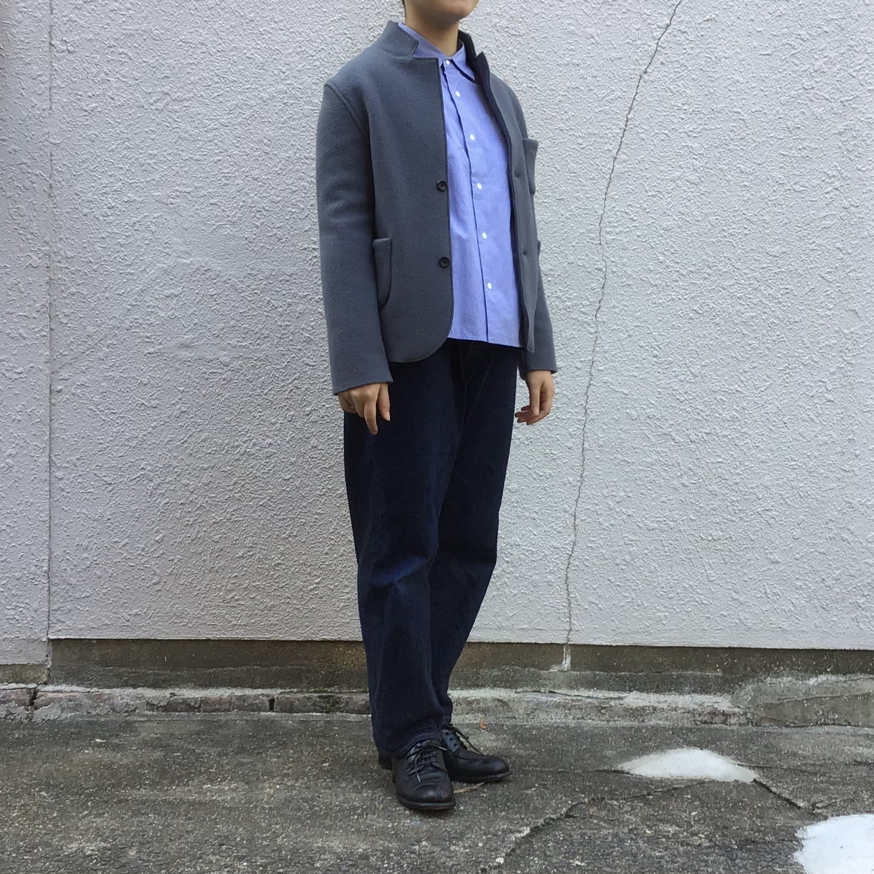 R&D.M.Co-/OLDMAN'S TAILOR Wool Felt Knit Jacket /ウールフェルトジャケット #4529