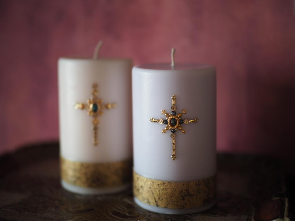 Biju candle (purple)