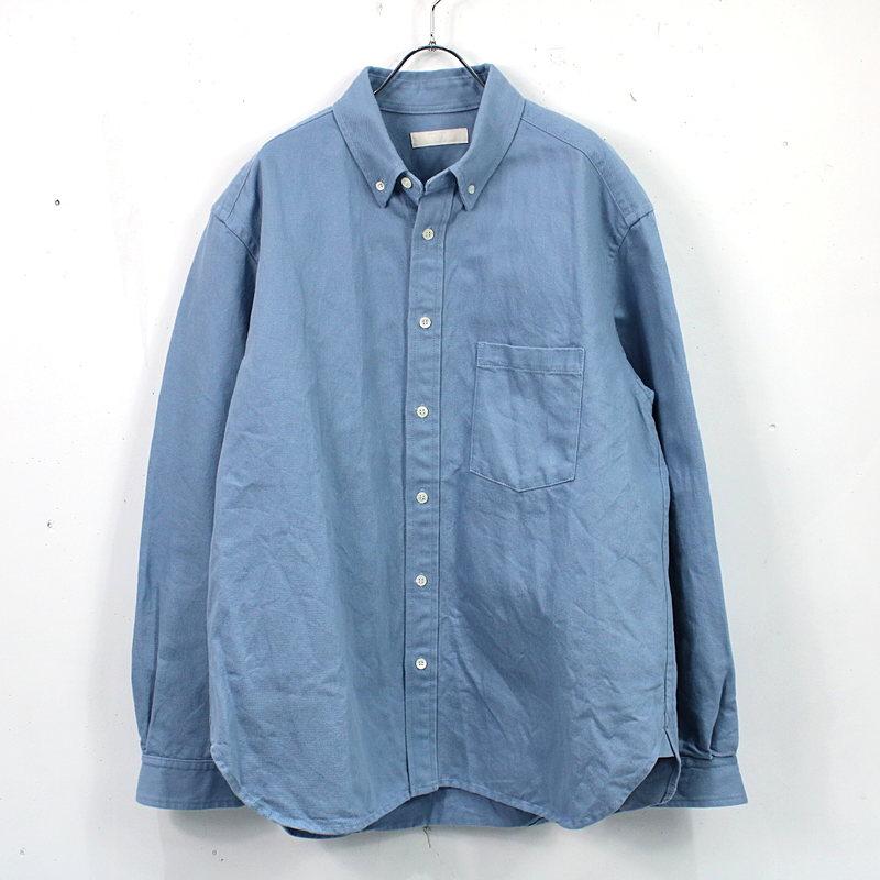 nest robe CONFECT / ネストローブコンフェクト   2020SS   和紙混紡 ボタンダウンシャツ   4   ブルー   メンズ
