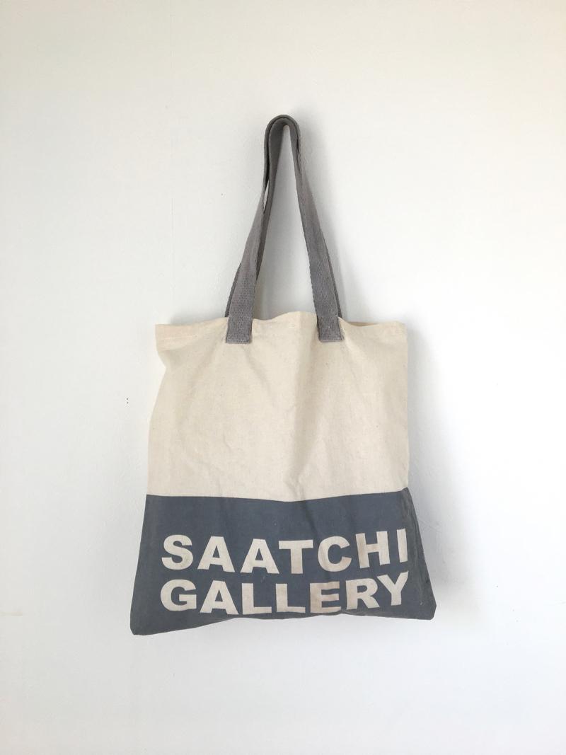 """ユーズドのトートバッグ「サーチ ギャラリー」 Used Tote Bag """"SAATCHI GALLERY"""""""