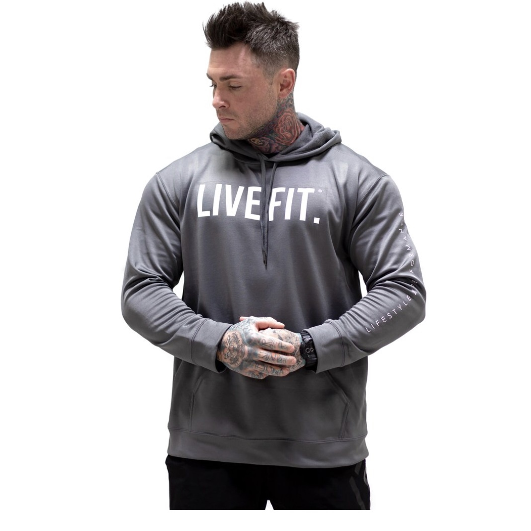 LIVE FIT Core Tech Hoodie - Cement