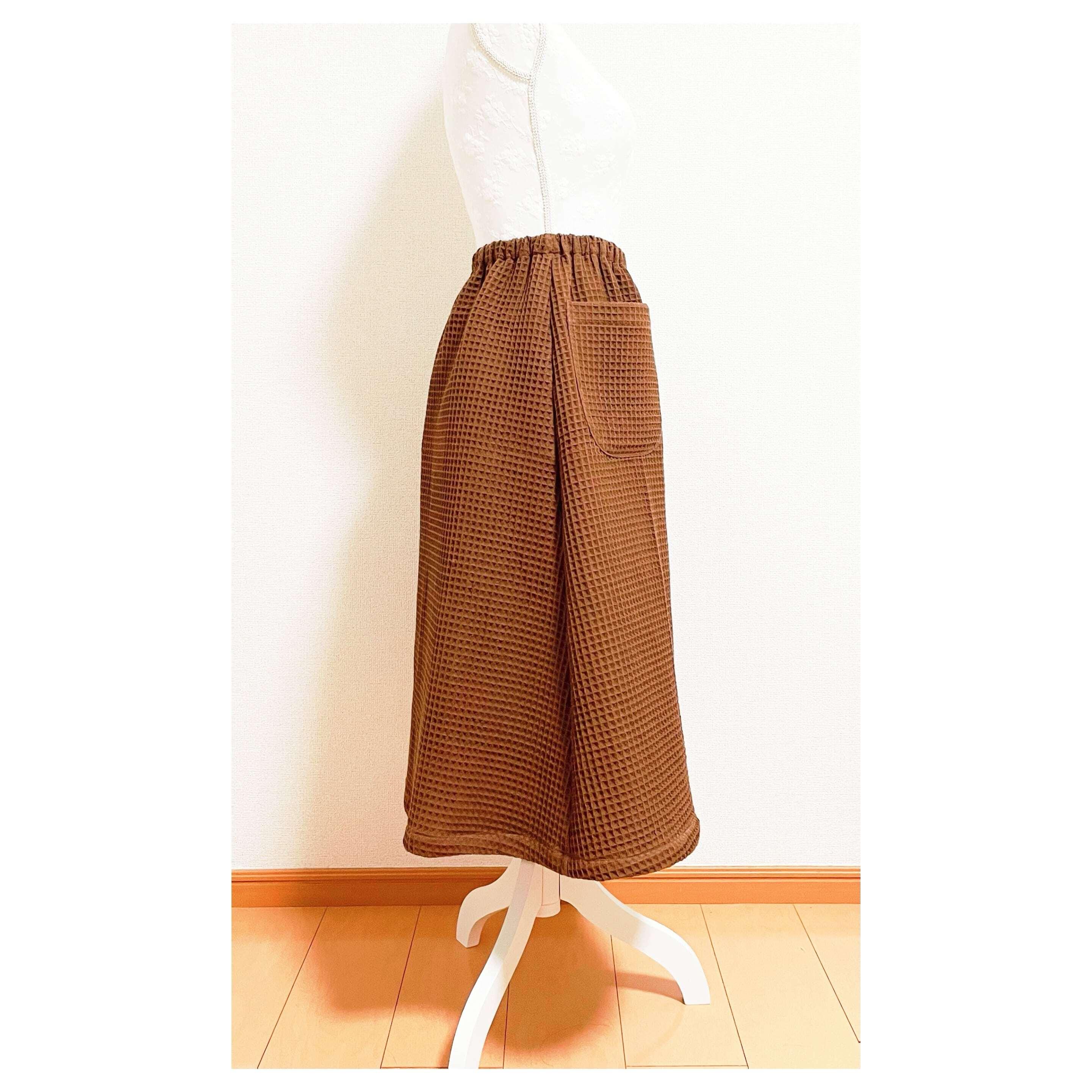 ポケット付き台形スカート型紙【紙版/レシピ付き】商用利用可能