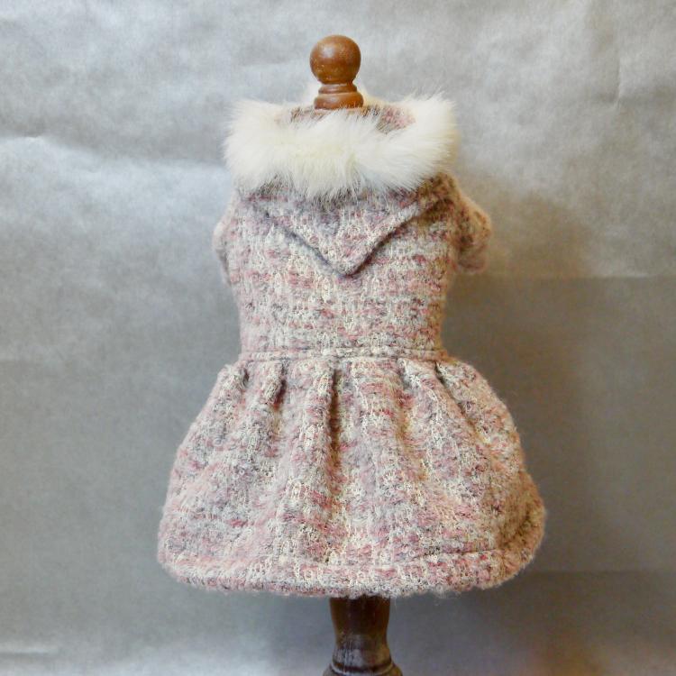 ピンクツイード  ウールコート