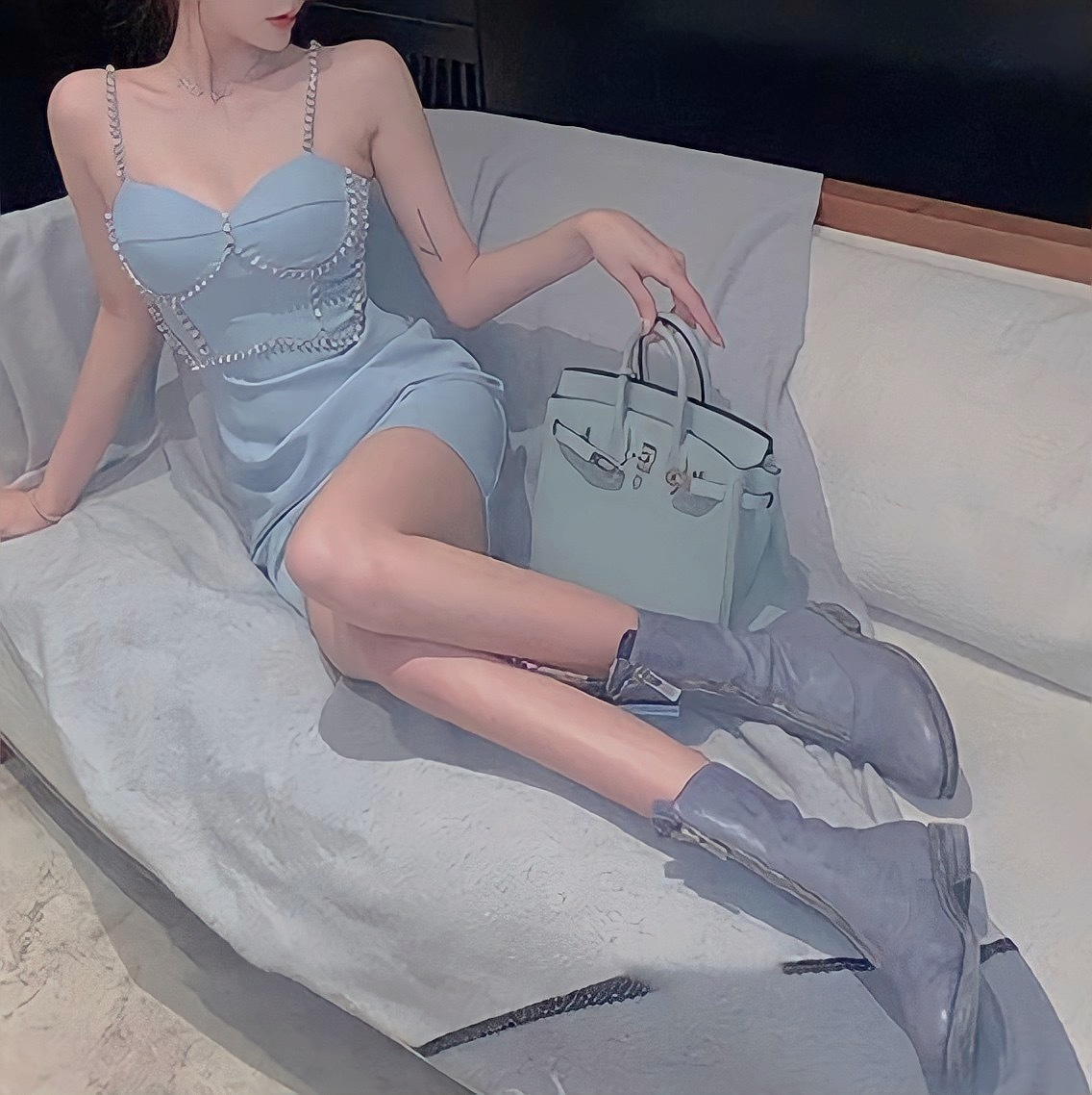 bijou camisole dress 3color