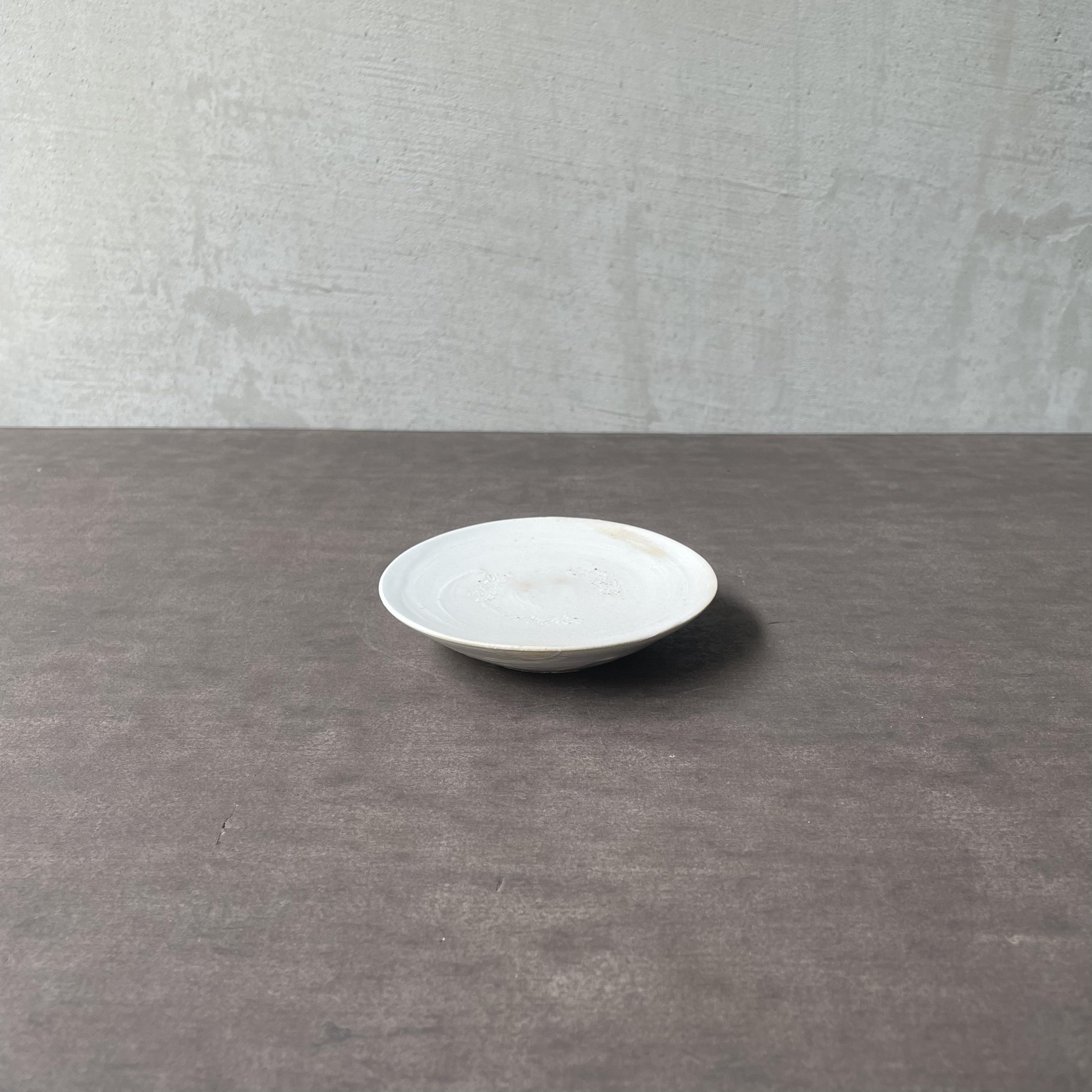 清水善行   白磁  豆皿