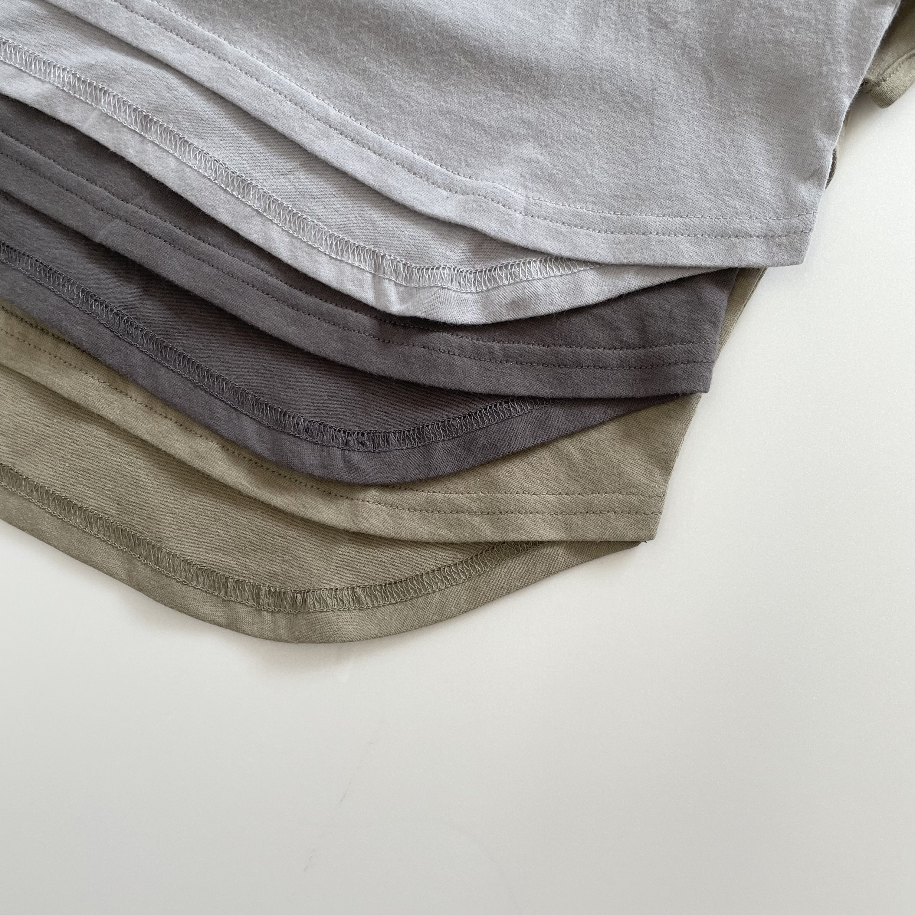 NO.1417 . pure  cotton French sleeve tee