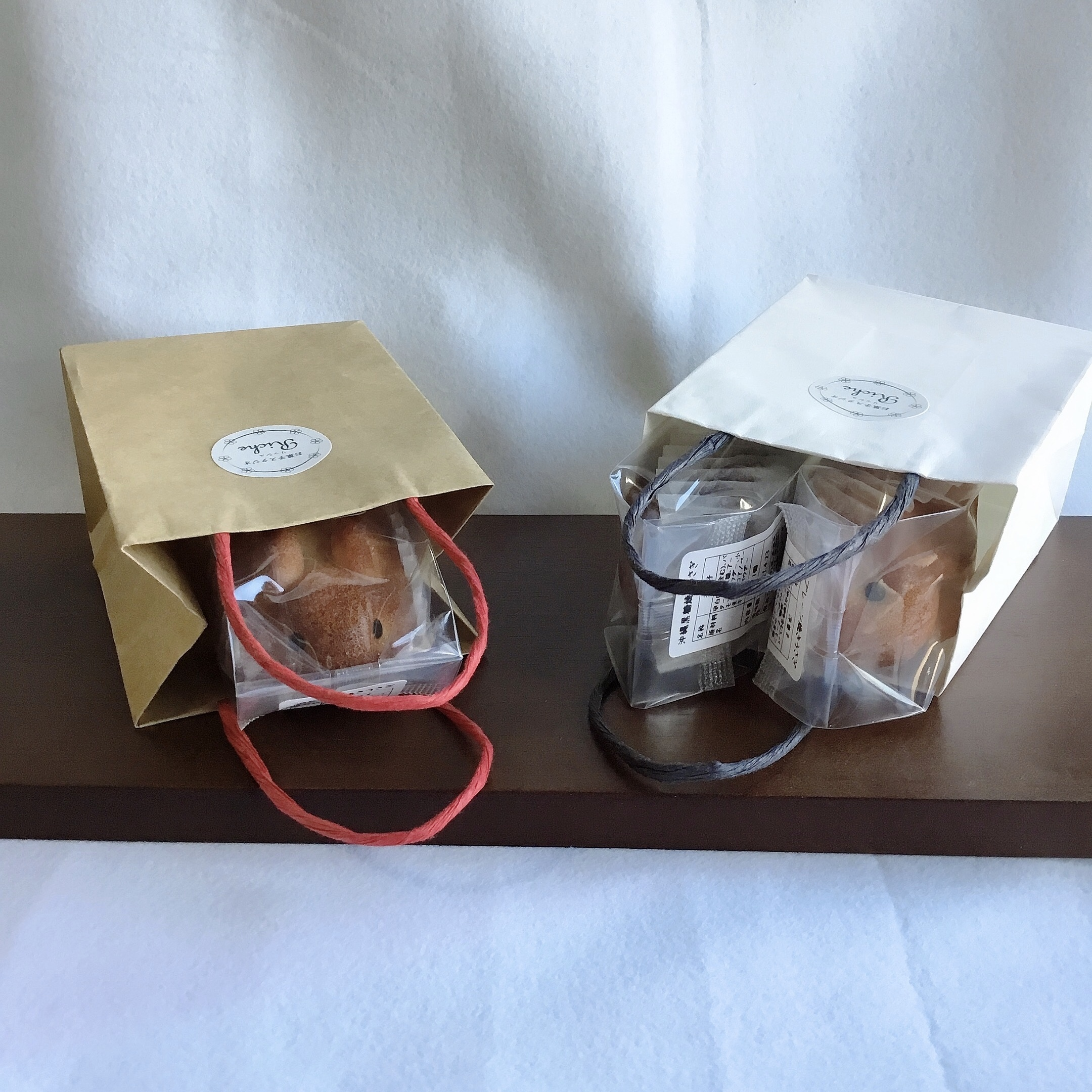 【1~2羽用】小分け手提げ袋(1枚)/オプション項目で色をご選択ください(※焼き菓子は含まれません)
