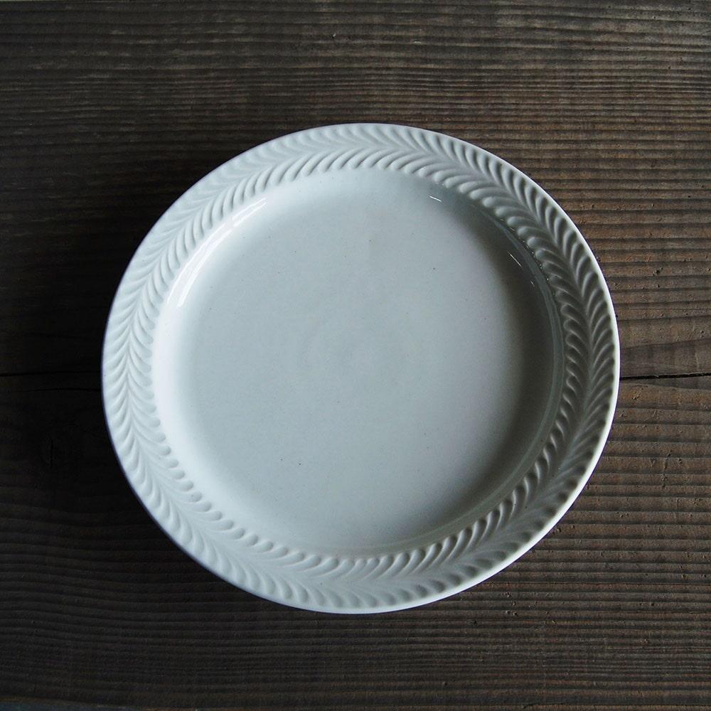 感器工房 波佐見焼 翔芳窯 ローズマリー リムプレート 皿 23.5cm ホワイト 332921