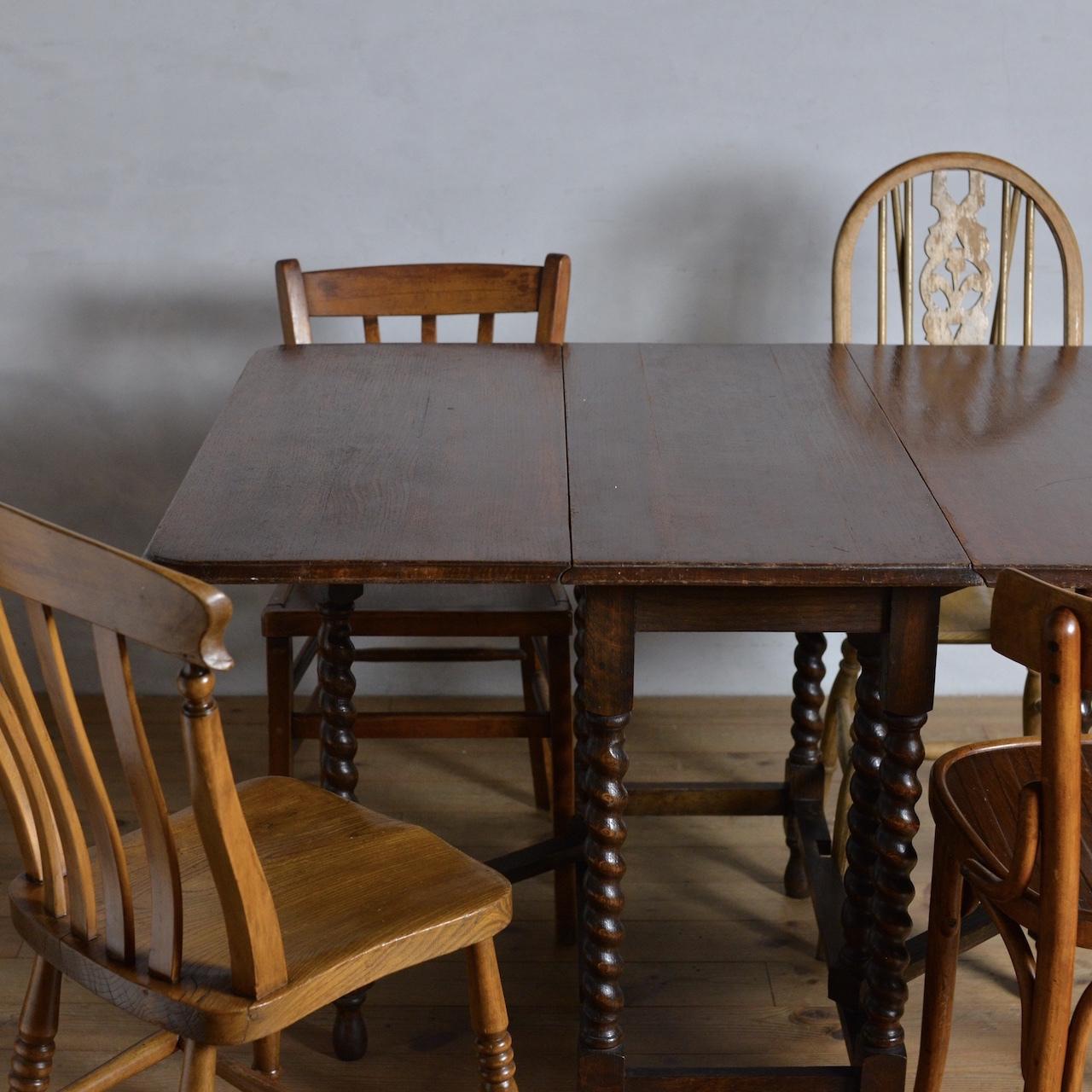 Gate Leg Table / ゲートレッグテーブル 〈ダイニングテーブル・ティーテーブル・バタフライテーブル・什器〉SB2012-0001